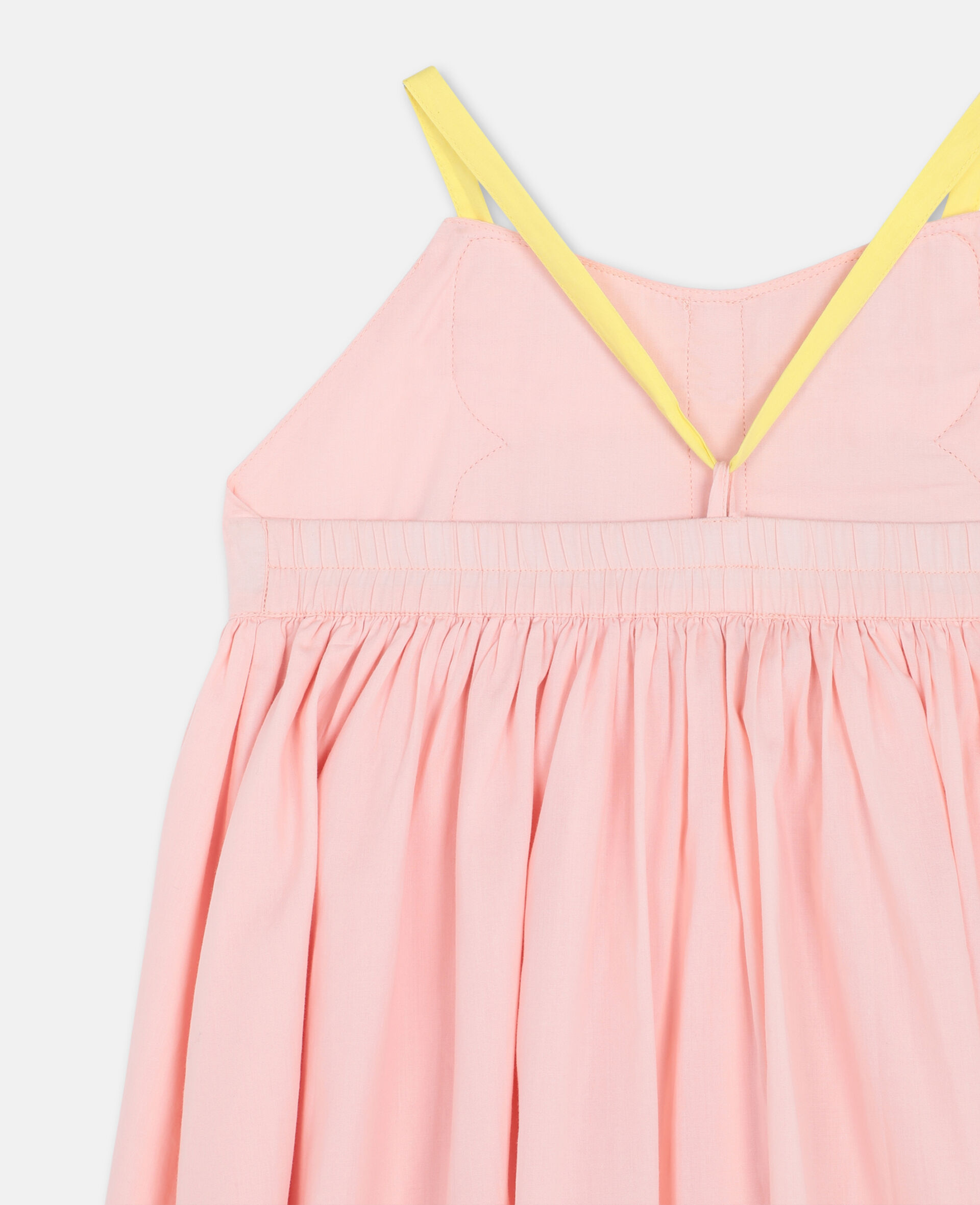 Butterfly Patch Cotton Dress -Pink-large image number 2