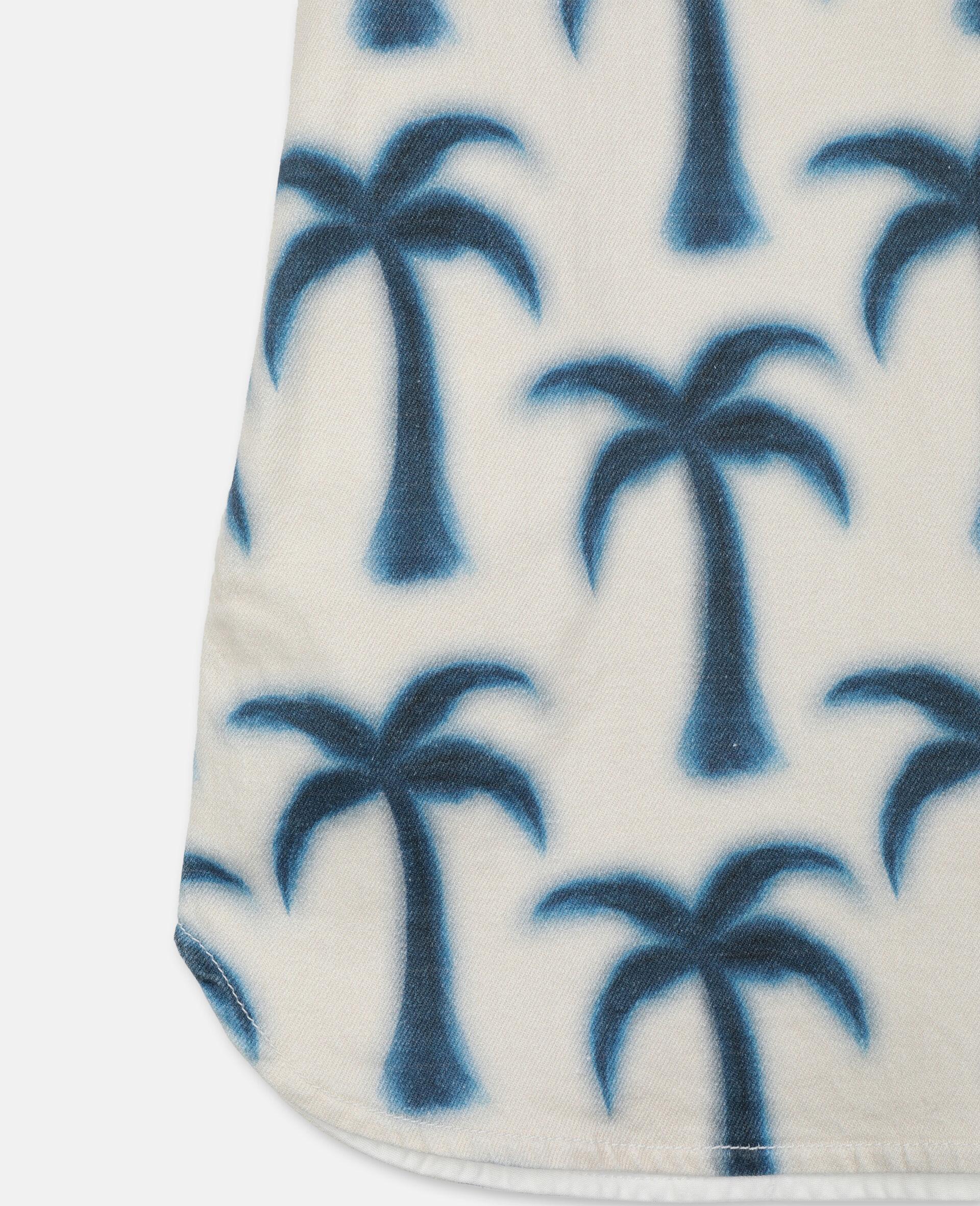 Palms Denim Dress-Blue-large image number 2