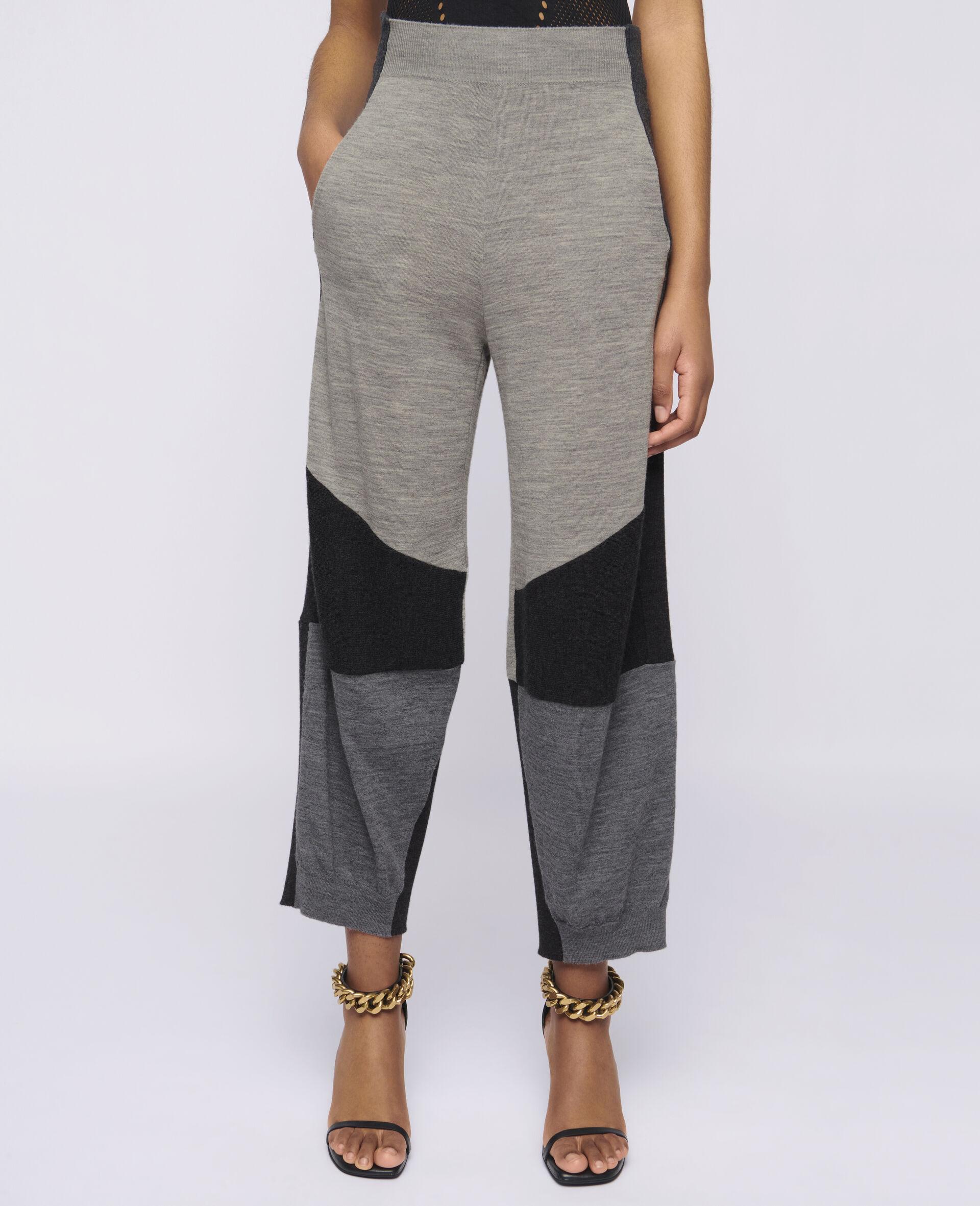 针织裤装-灰色-large image number 3