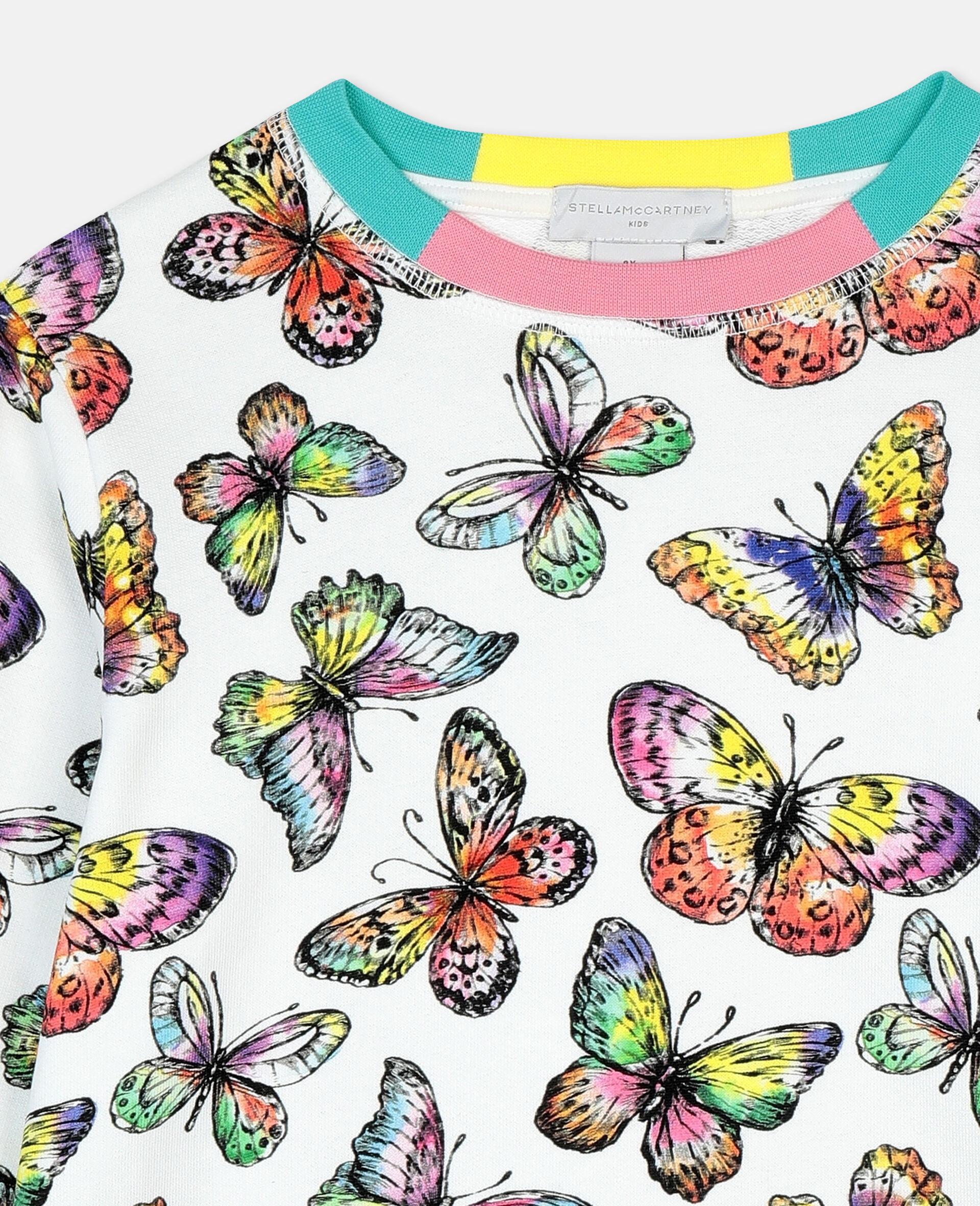 Baumwollsweatshirt mit Schmetterling-Print-Bunt-large image number 1