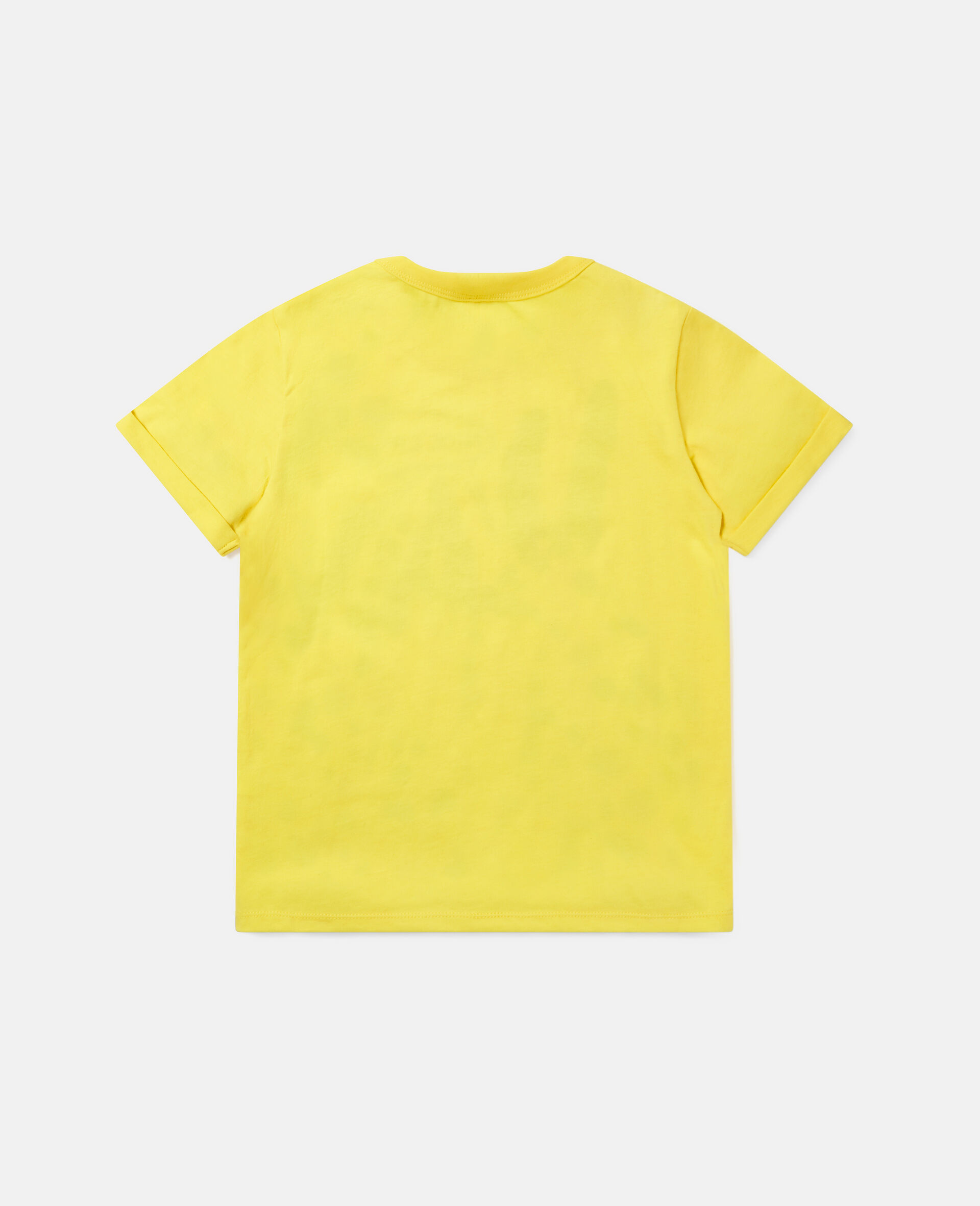 Dalmatian Cotton T-shirt -Yellow-large image number 3