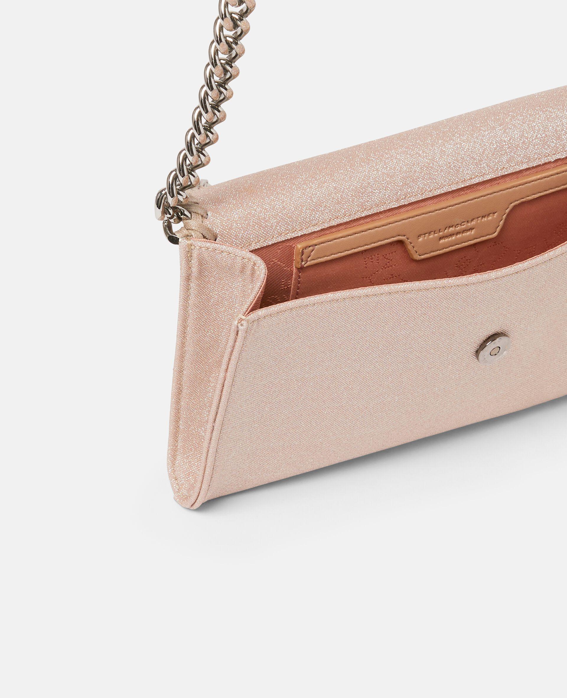 Falabella Glitter Mini Shoulder Bag -Pink-large image number 3