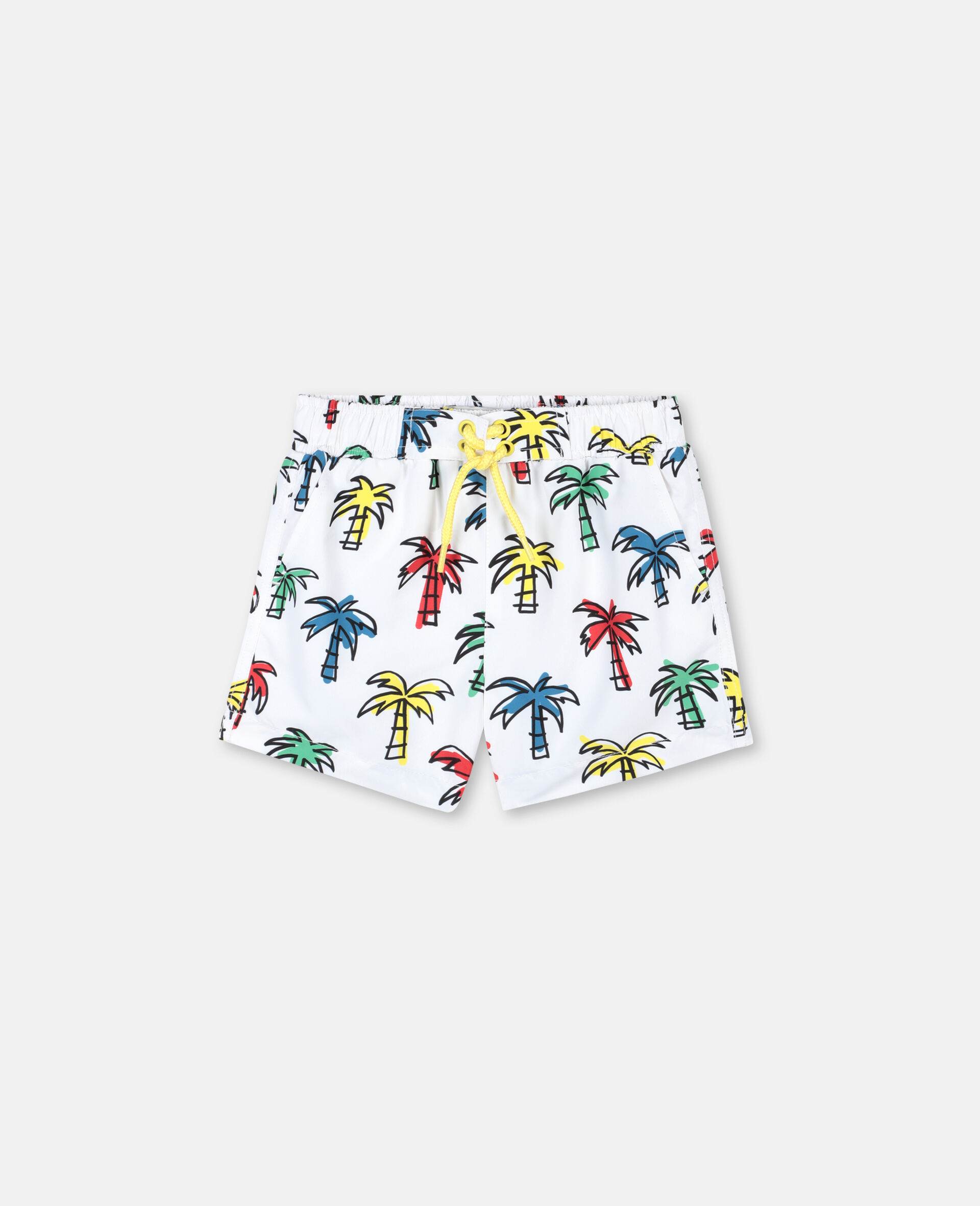 Doodly Palm Trees Swim Shorts-Multicolour-large image number 0