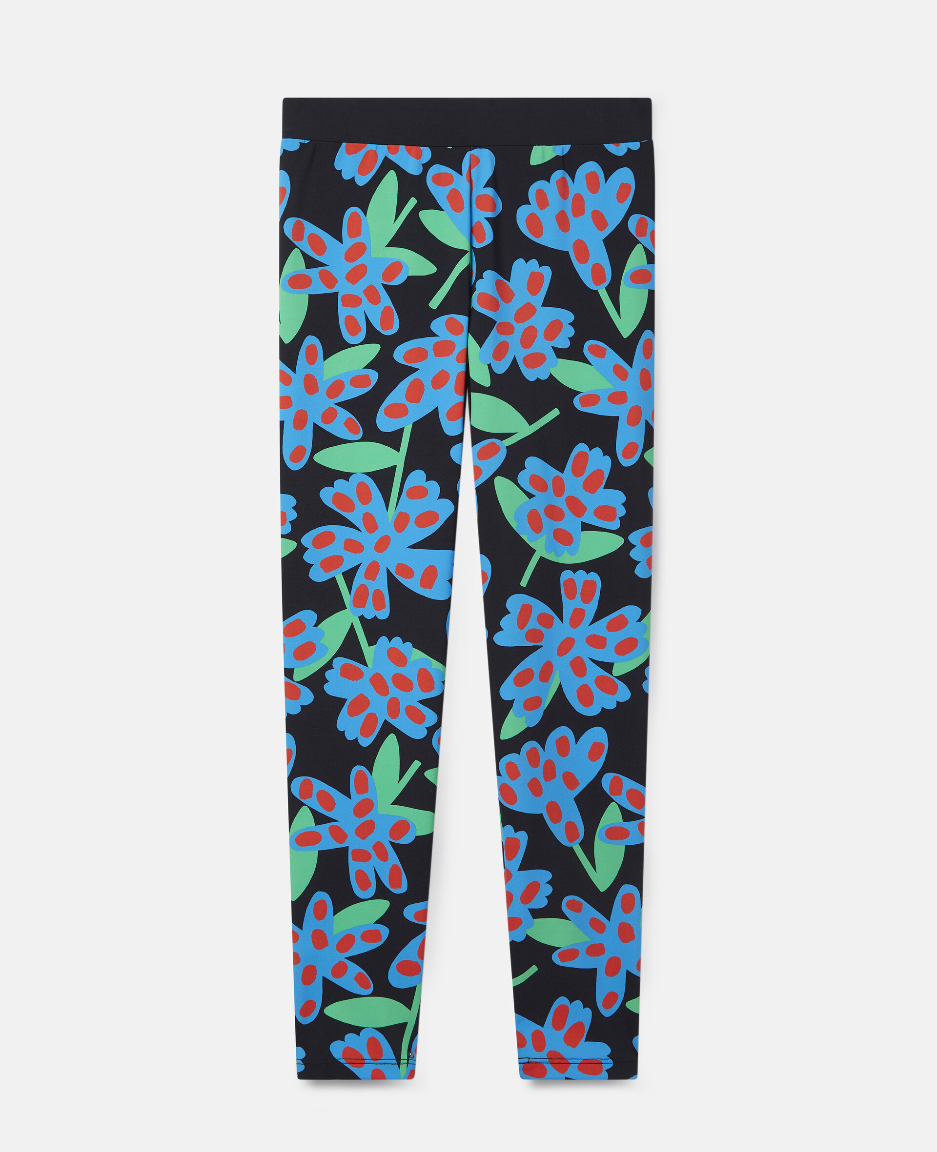 Spotty Flowers Oversized Leggings-Multicolour-large image number 0