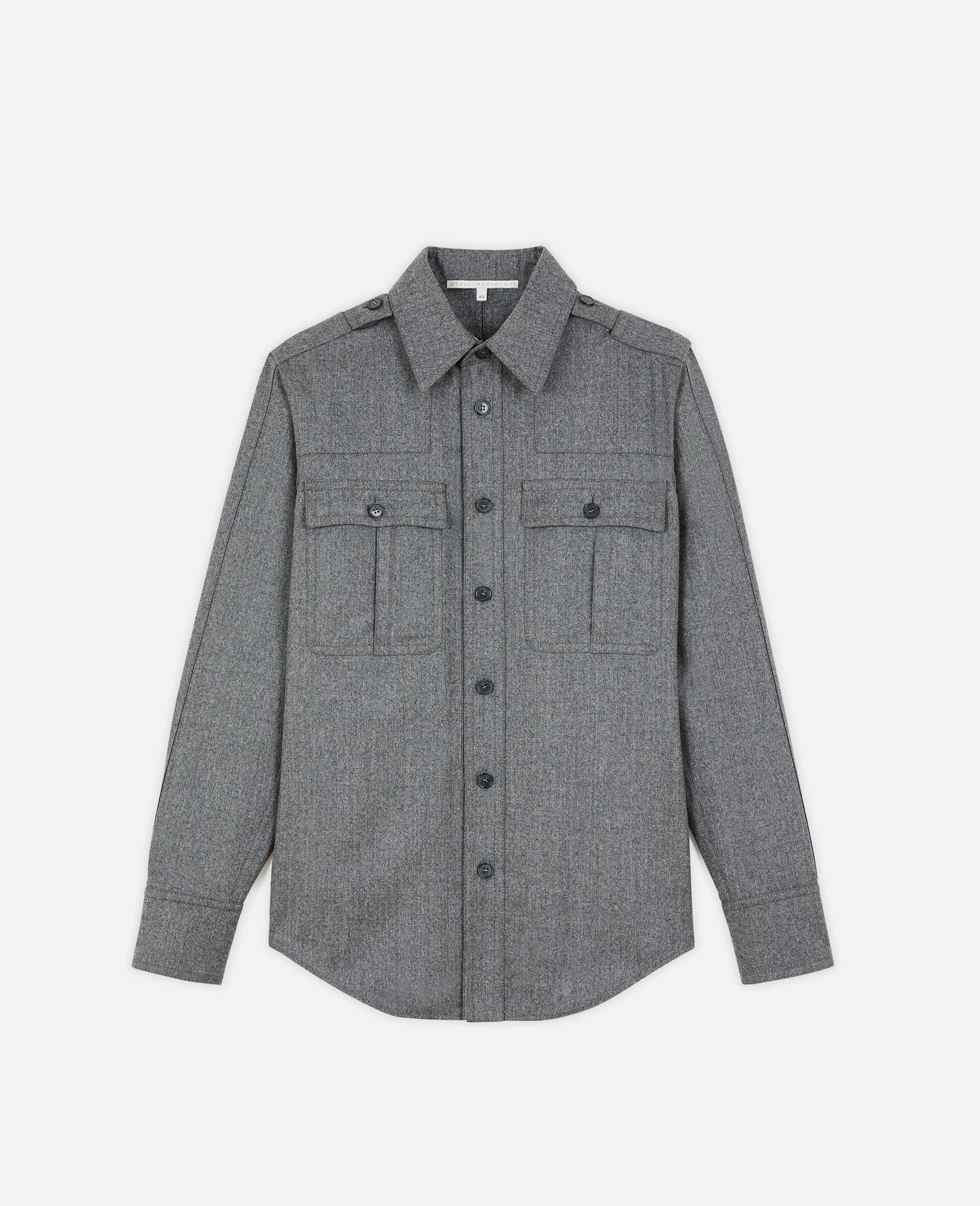 Wool Flannel Shirt-Grau-large image number 0