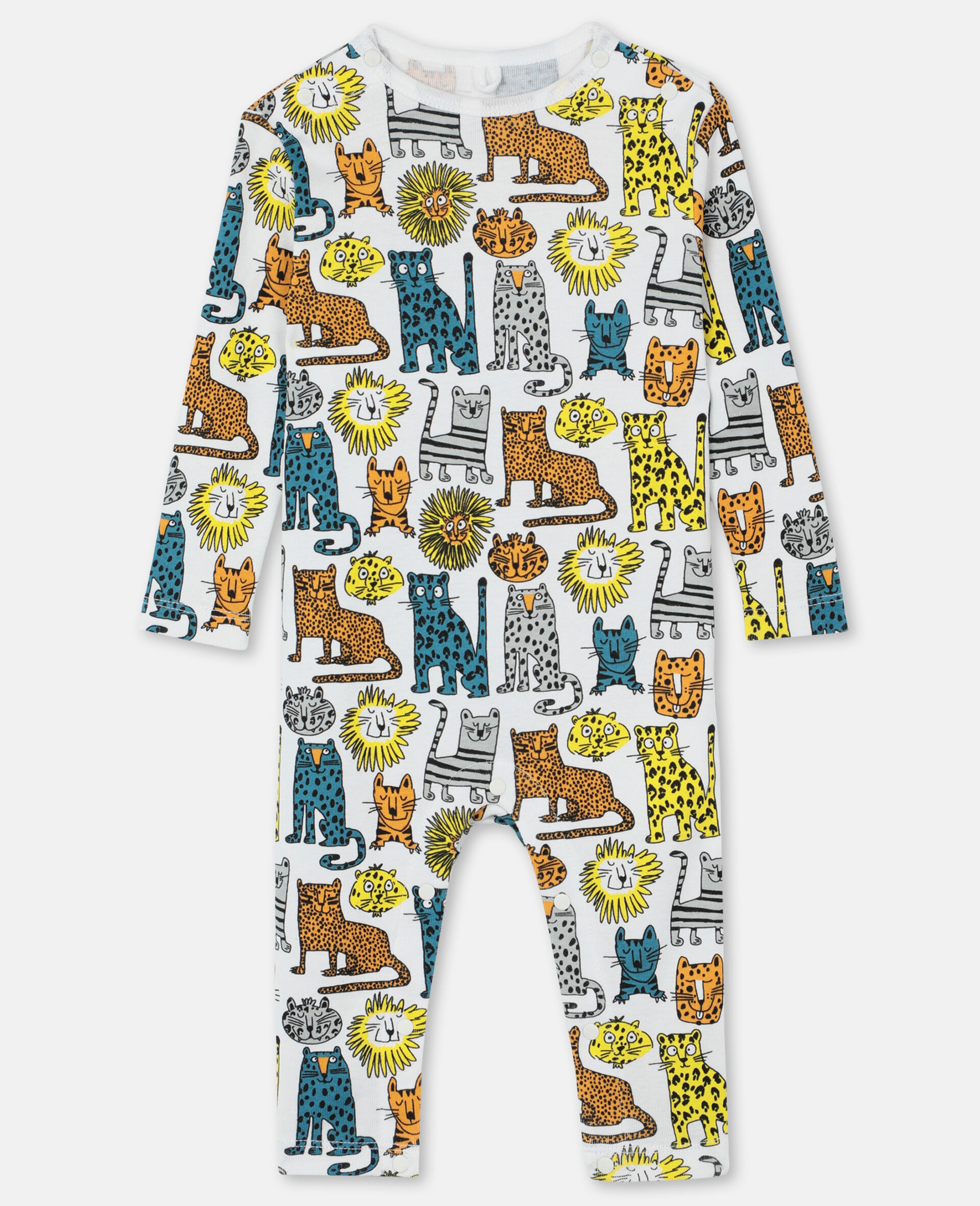 Wild Cats Jersey Rib Body and Jumpsuit -Multicolour-large image number 3
