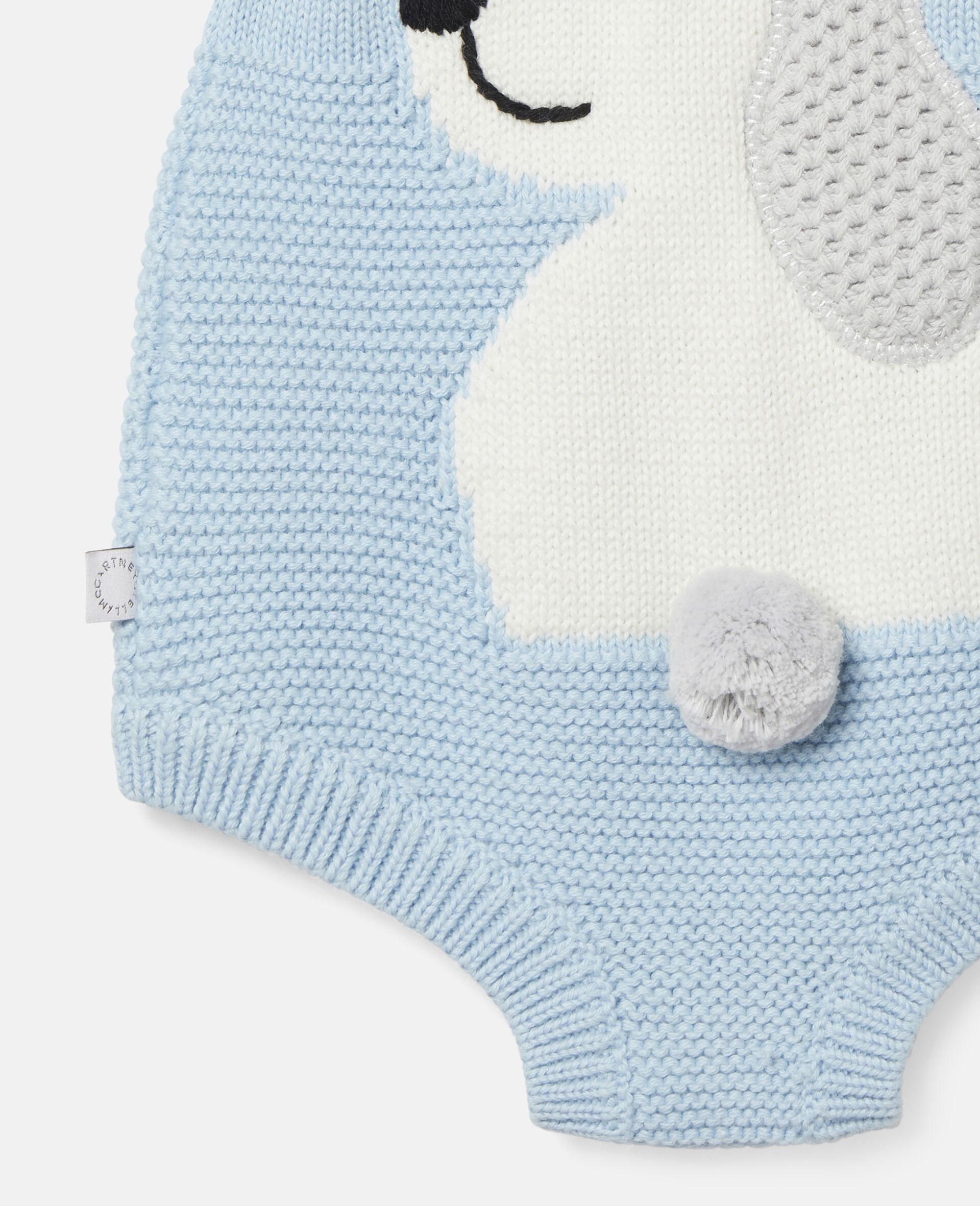 Happy Dog Knit Intarsia Body-Blue-large image number 2