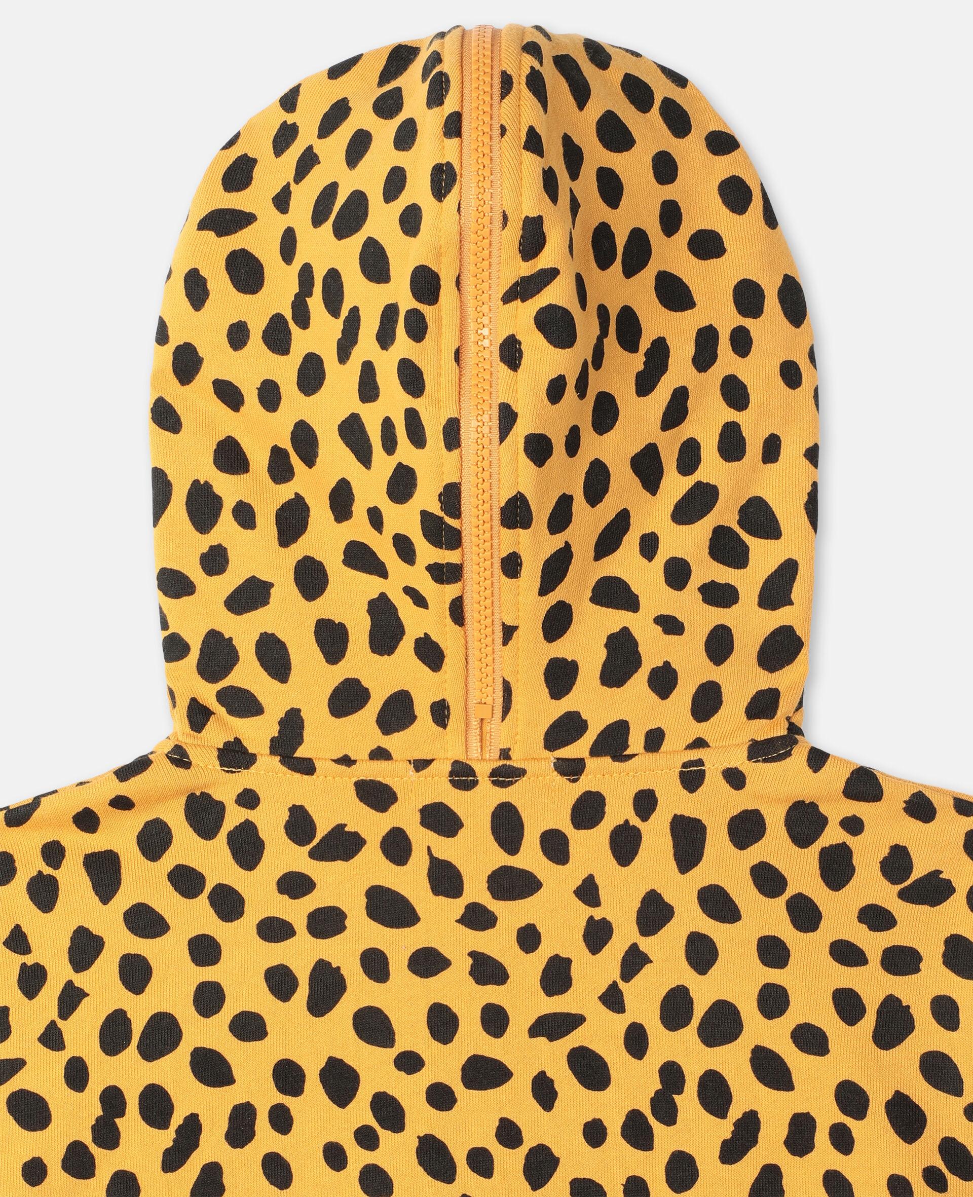 Sweat-shirt à capuche en coton à motif guépard -Fantaisie-large image number 2
