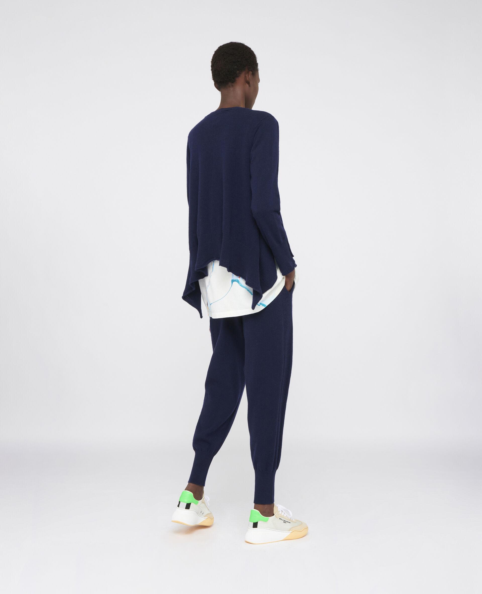 轻质羊绒裤装-蓝色-large image number 2