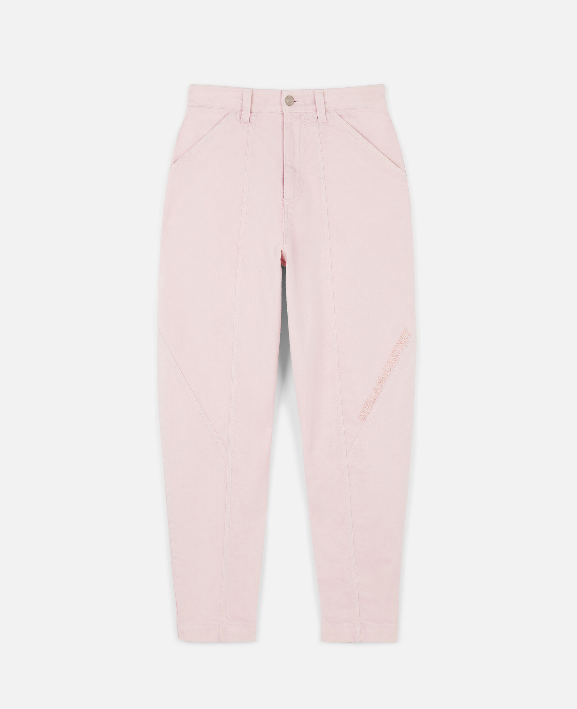 Logo Embroidered Jeans-Pink-large image number 0