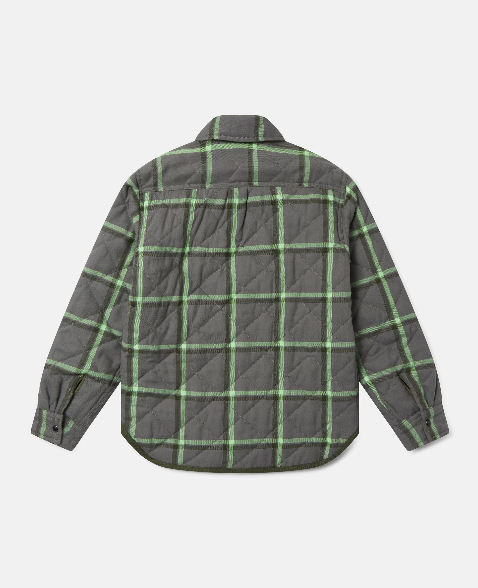 Checks Cotton Shirt-Grey-large image number 3