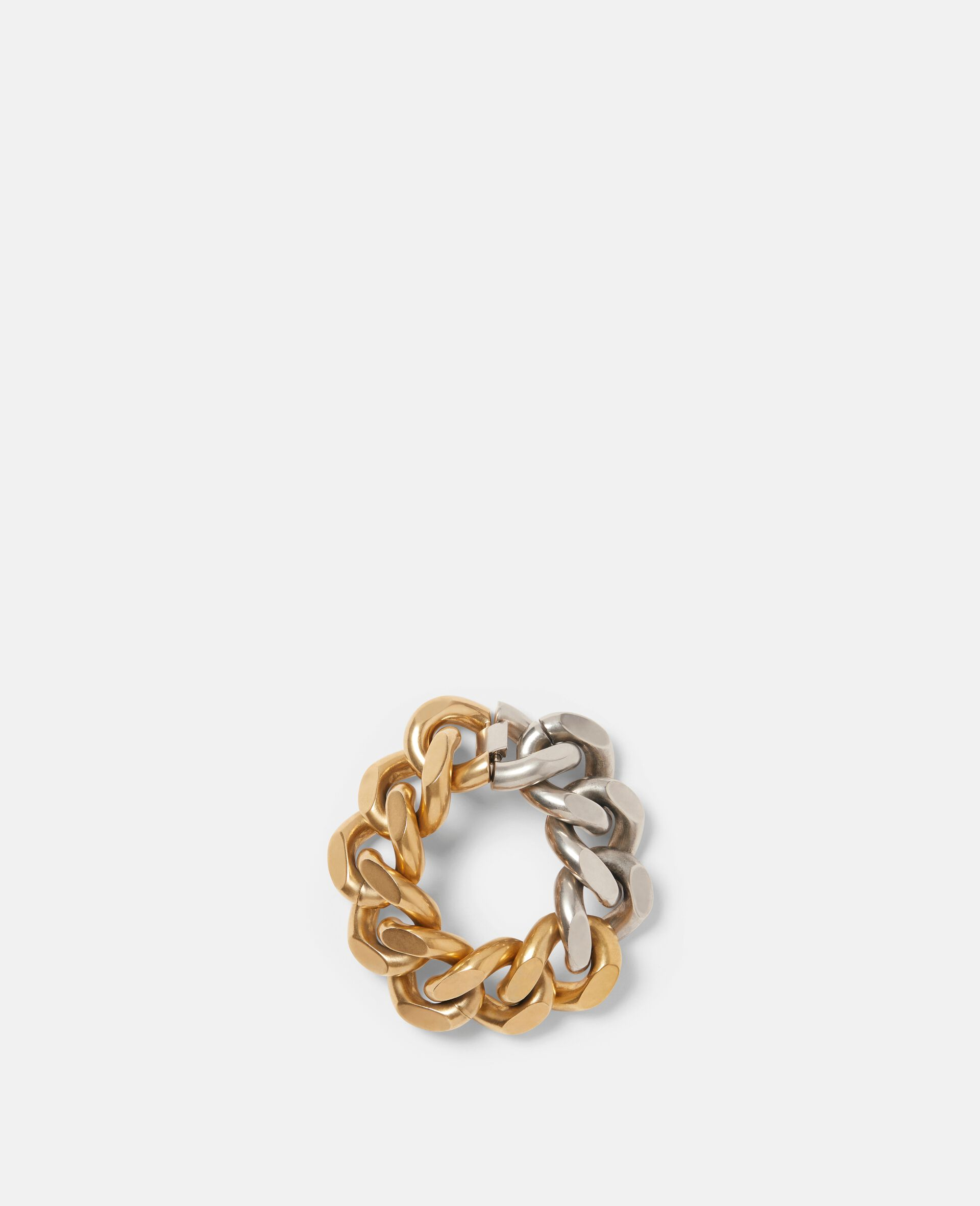 Bicolor Chunky Bracelet-Yellow-large image number 0