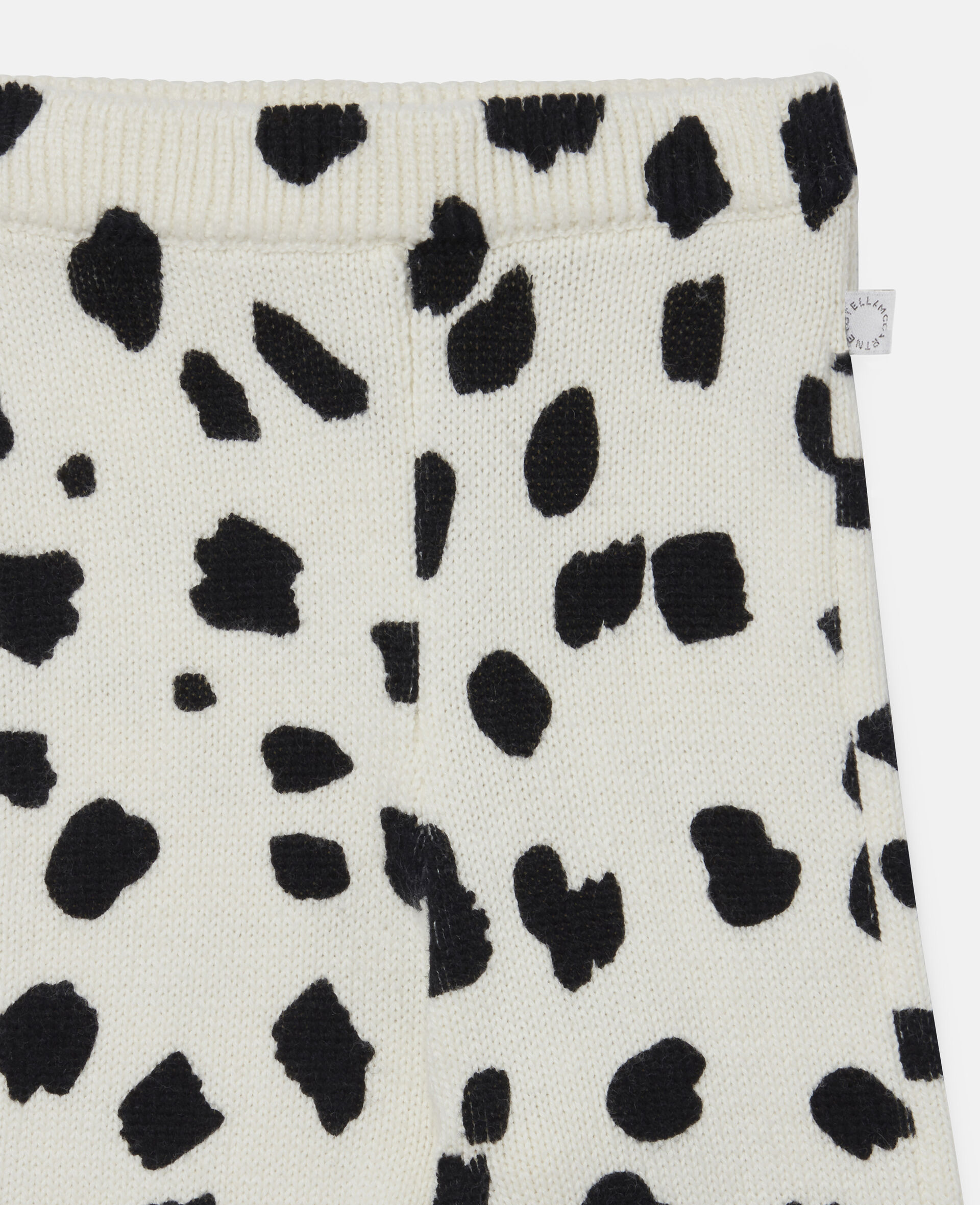 Strick-Leggings mit Dalmatinerflecken-Weiß-large image number 2