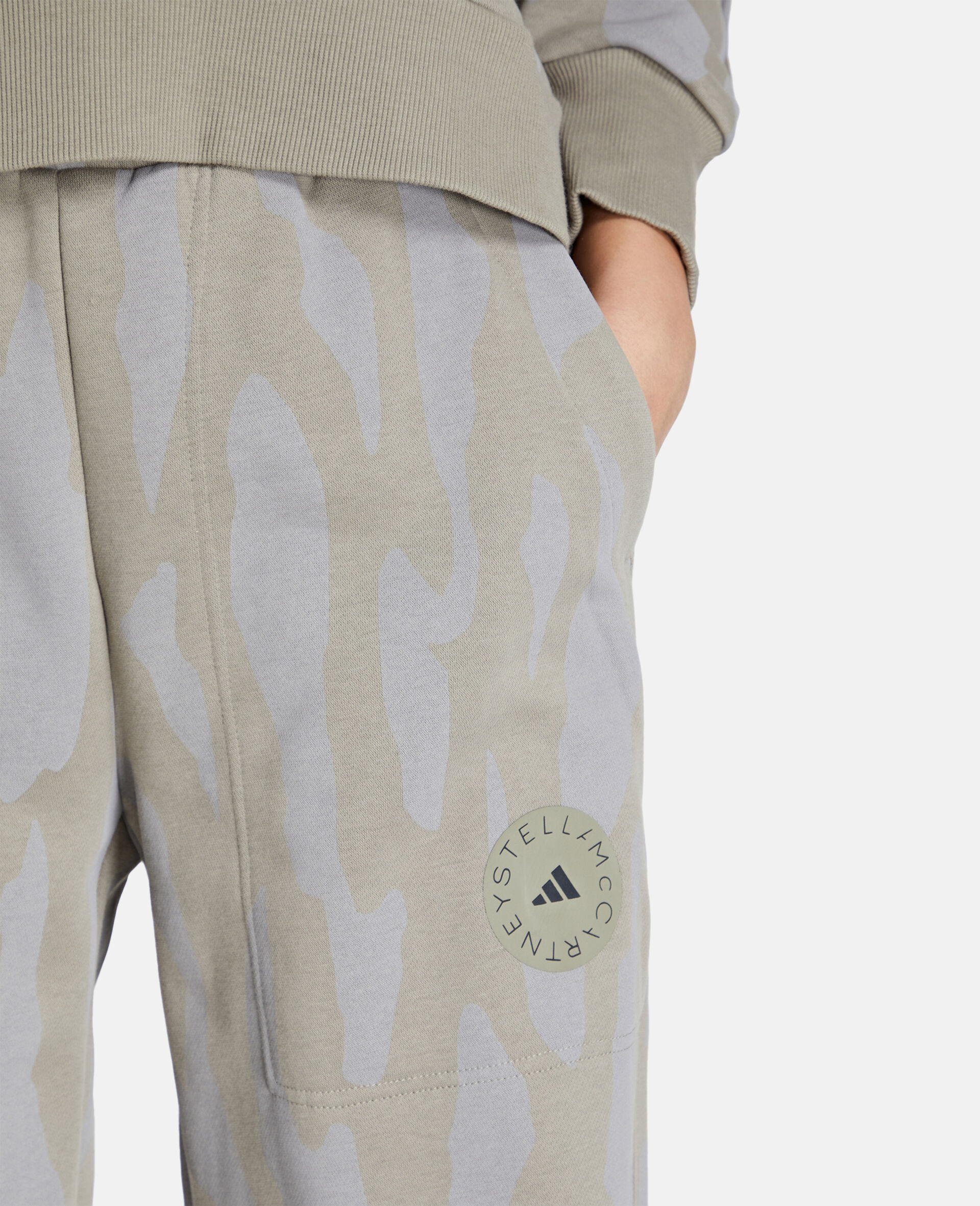 Gray Training Sweatpants-Grey-large image number 3