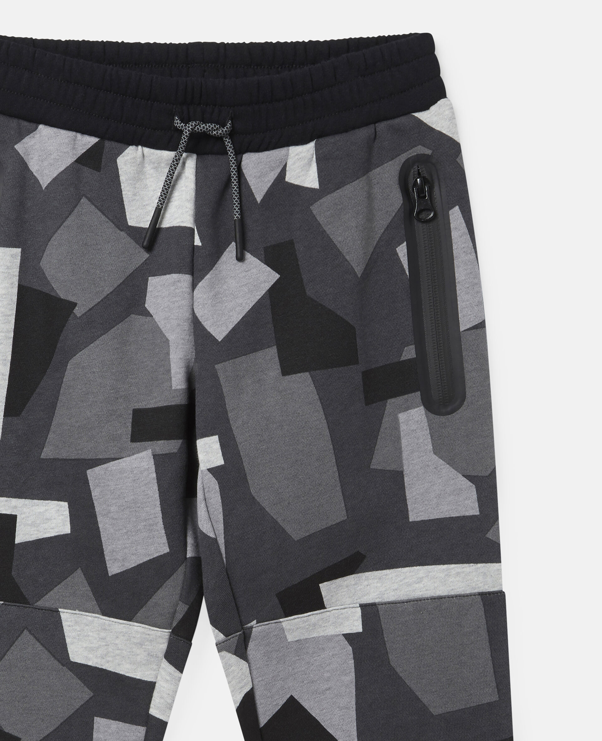 Geometric Camouflage Fleece Joggers-Multicolour-large image number 2