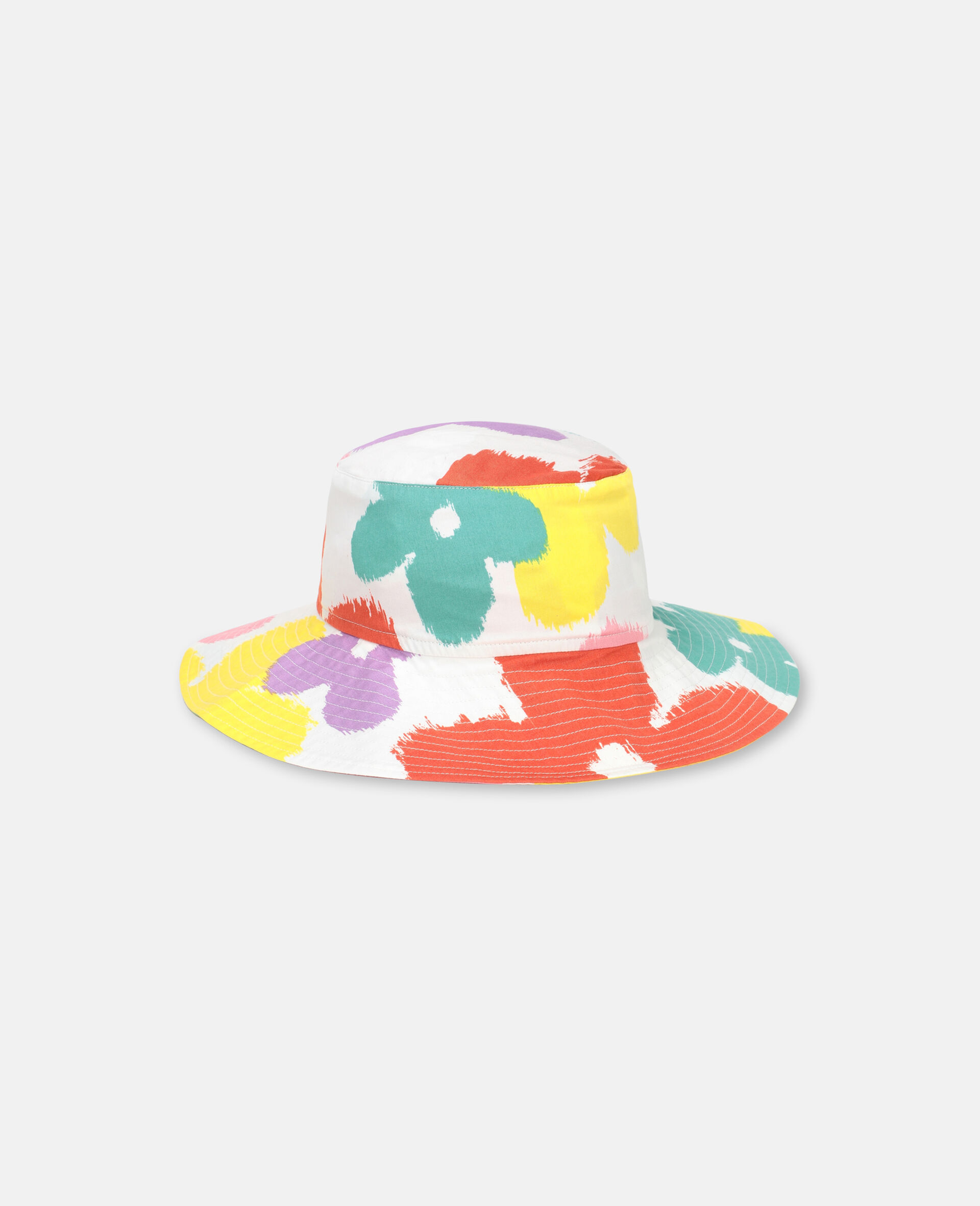 Flower Cotton Hat-Multicolour-large image number 1