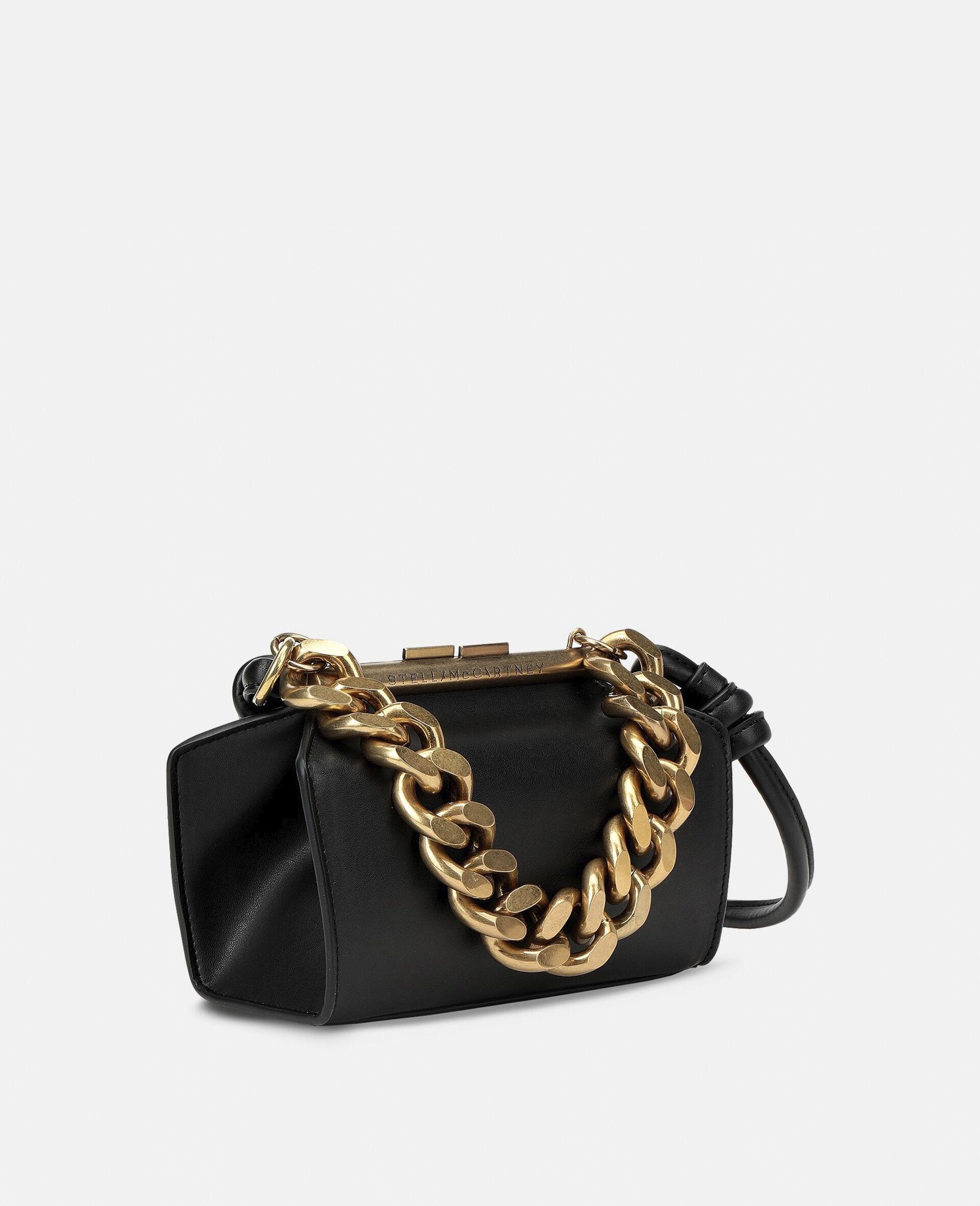 Petit sac avec bandoulière chaîne épaisse-Noir-large image number 1