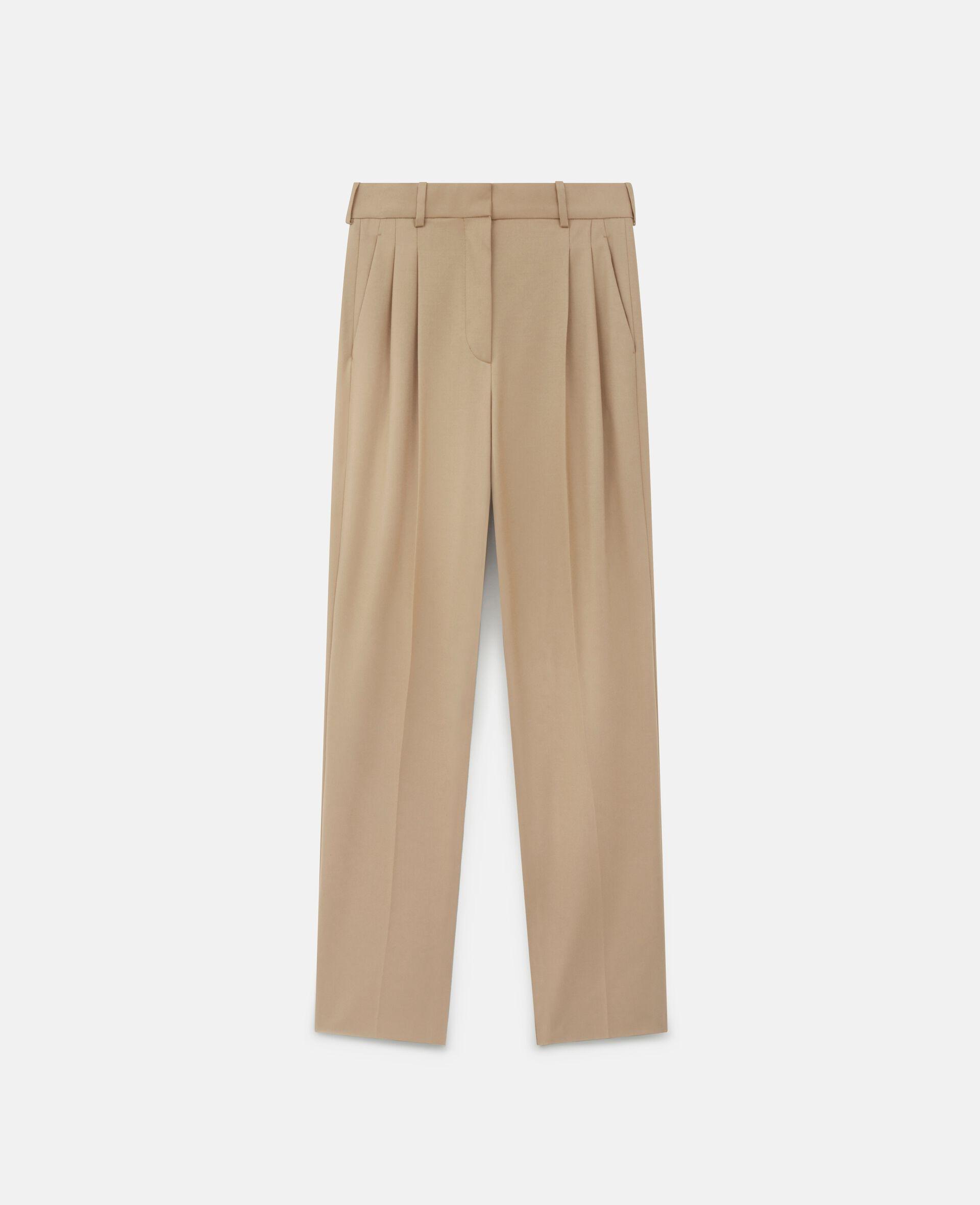 Kaiya Wool Trousers-Brown-large image number 0