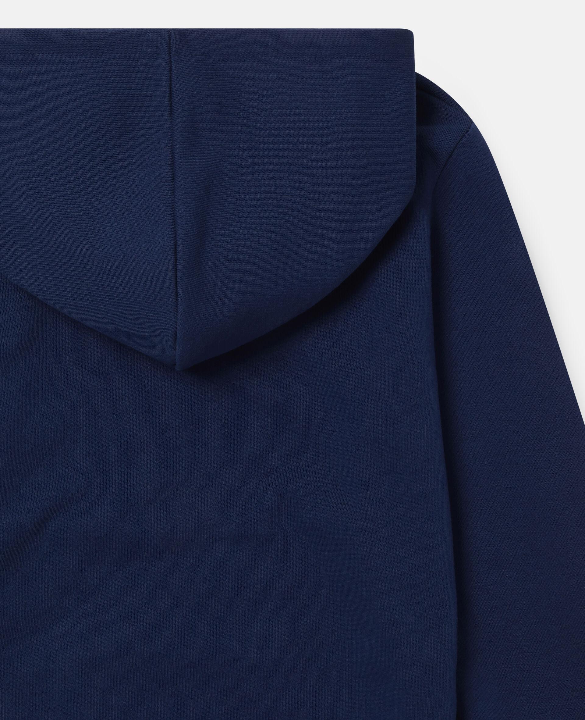 Sweat-shirt à capuche oversize motif pizza sur skateboard-Bleu-large image number 2