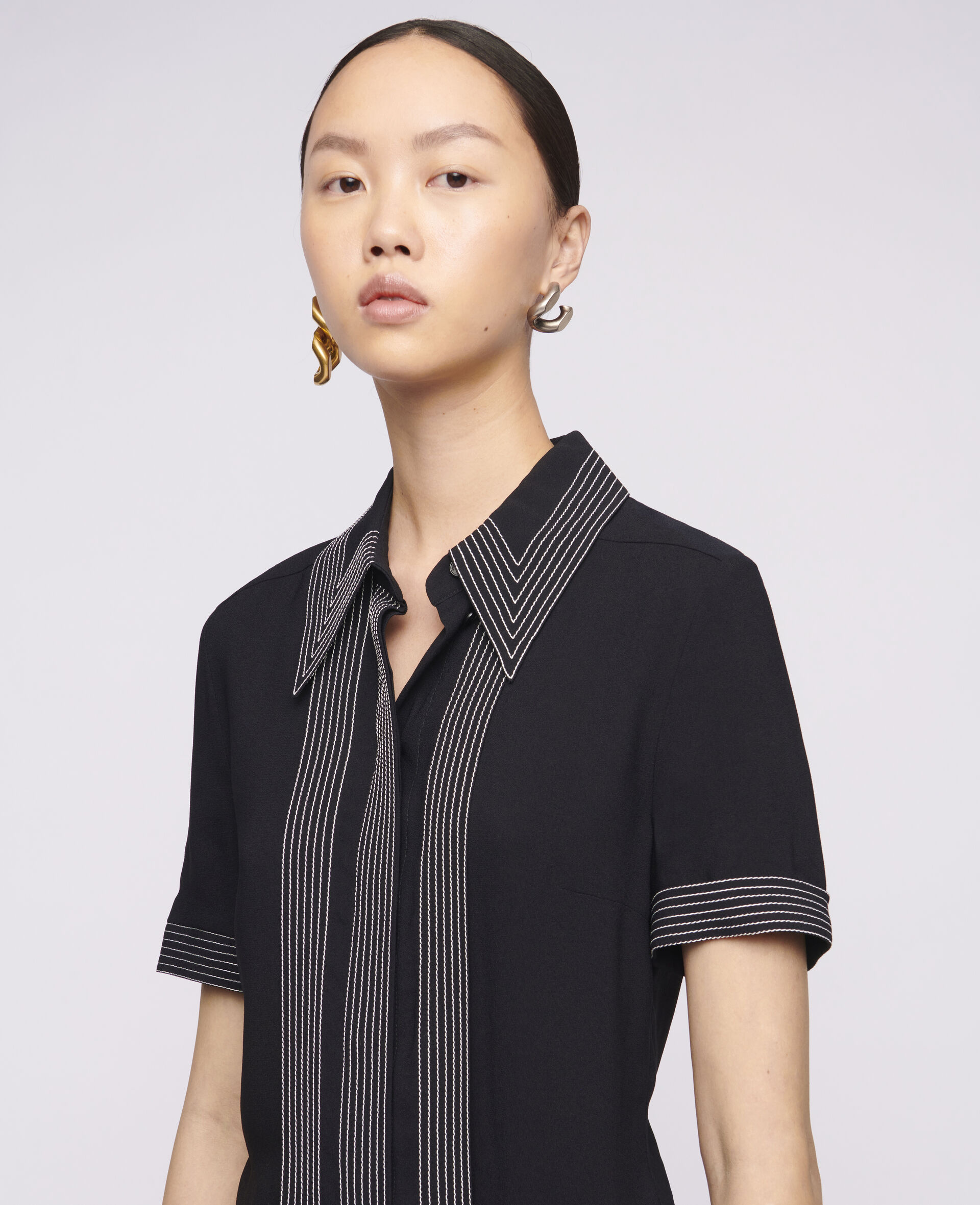Rosa 衬衫-黑色-large image number 3