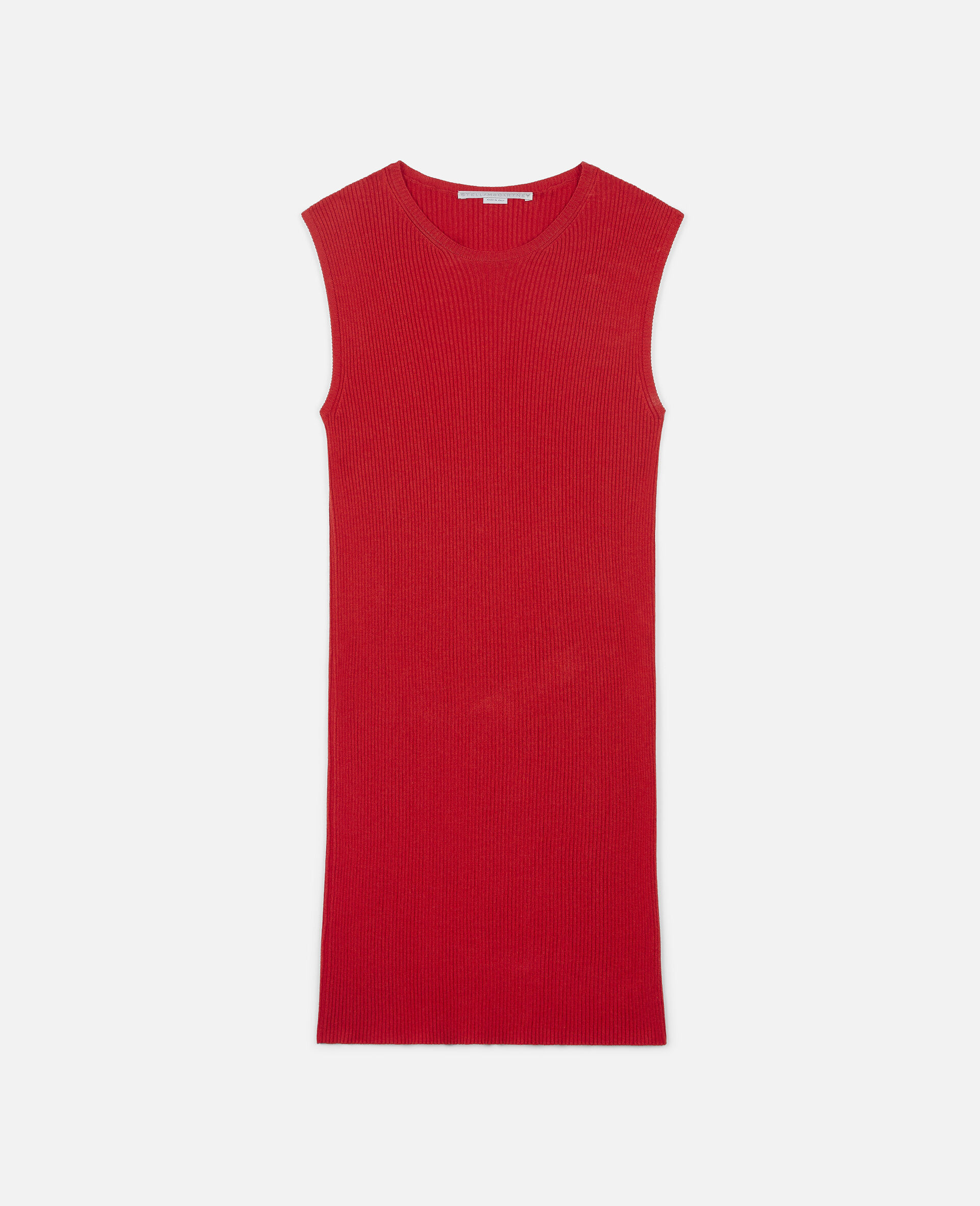 Sleeveless Mini Dress-Red-large
