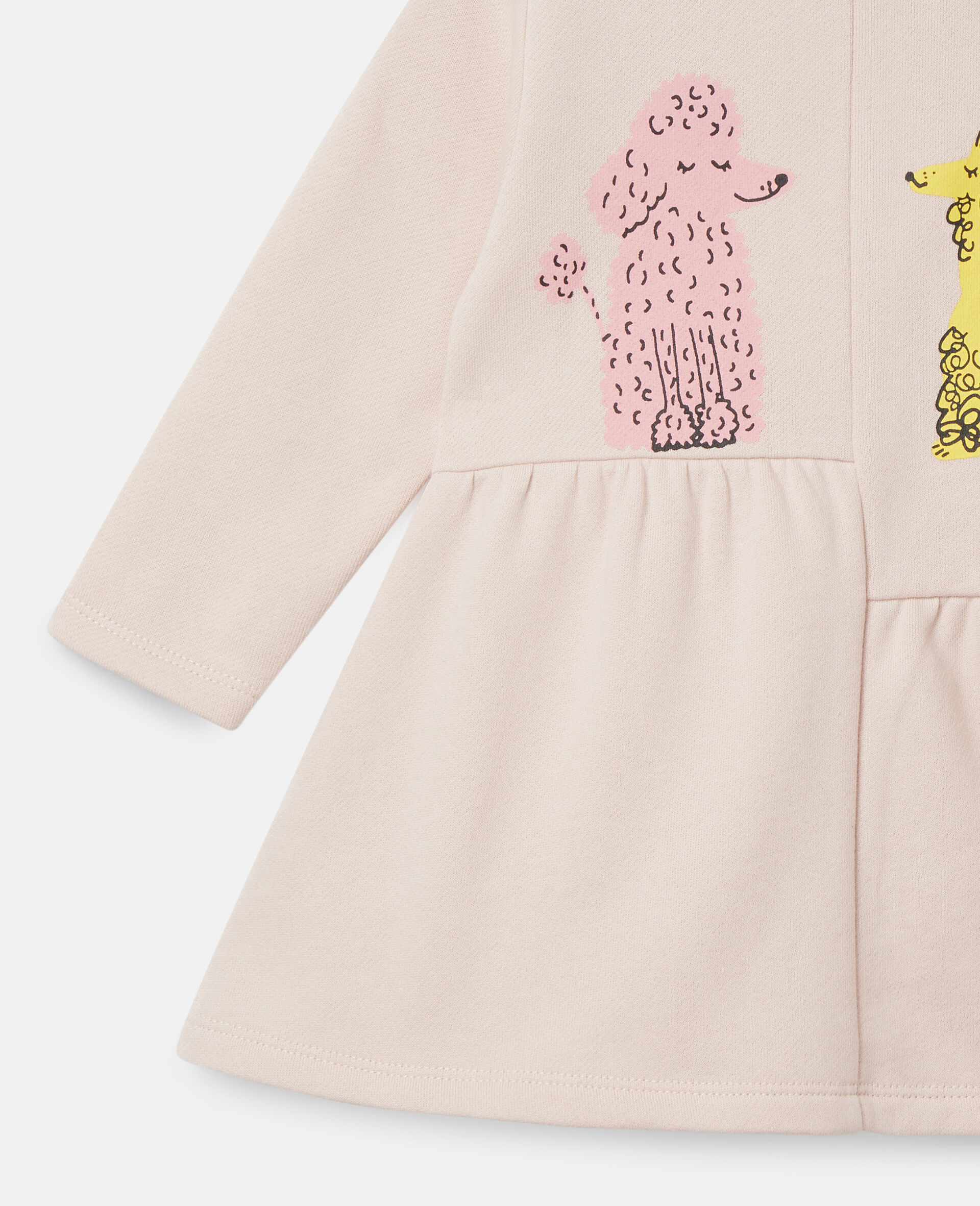 Kleid aus Fleece mit Pudel-Print-Rose-large image number 1