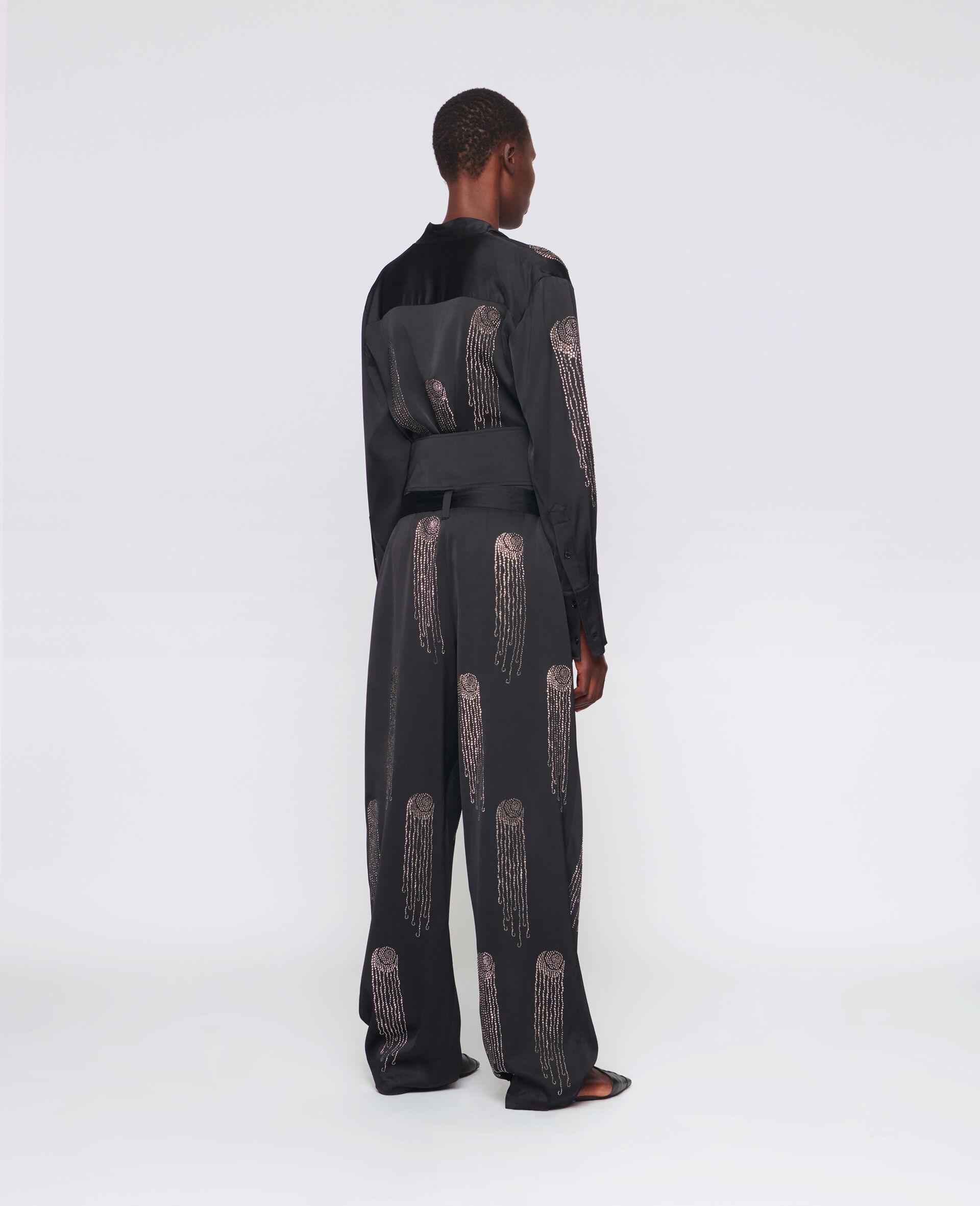 Londyn Hotfix Pants-Black-large image number 2