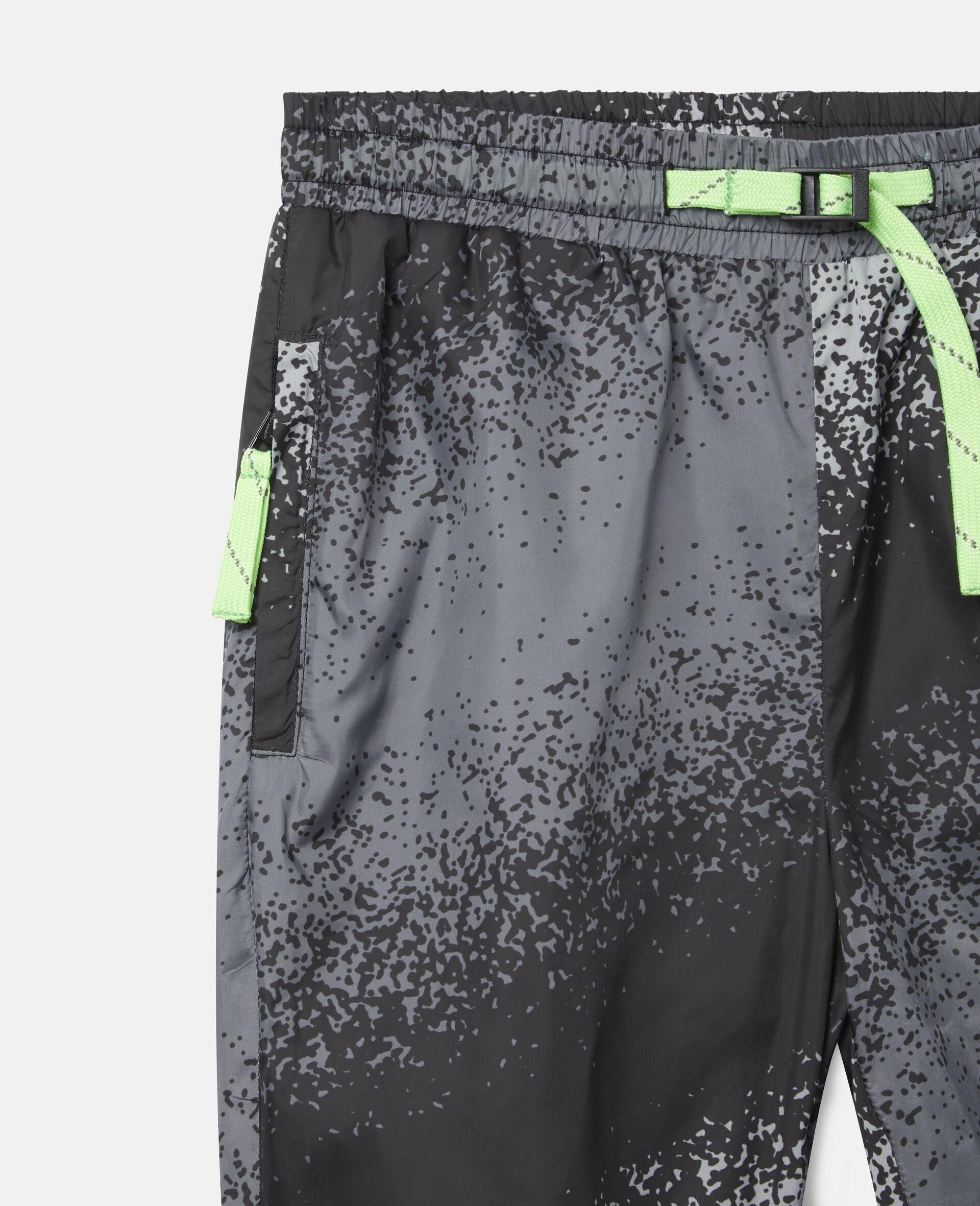 Pantaloni Cargo con Motivo Effetto Spray-Grigio-large image number 1