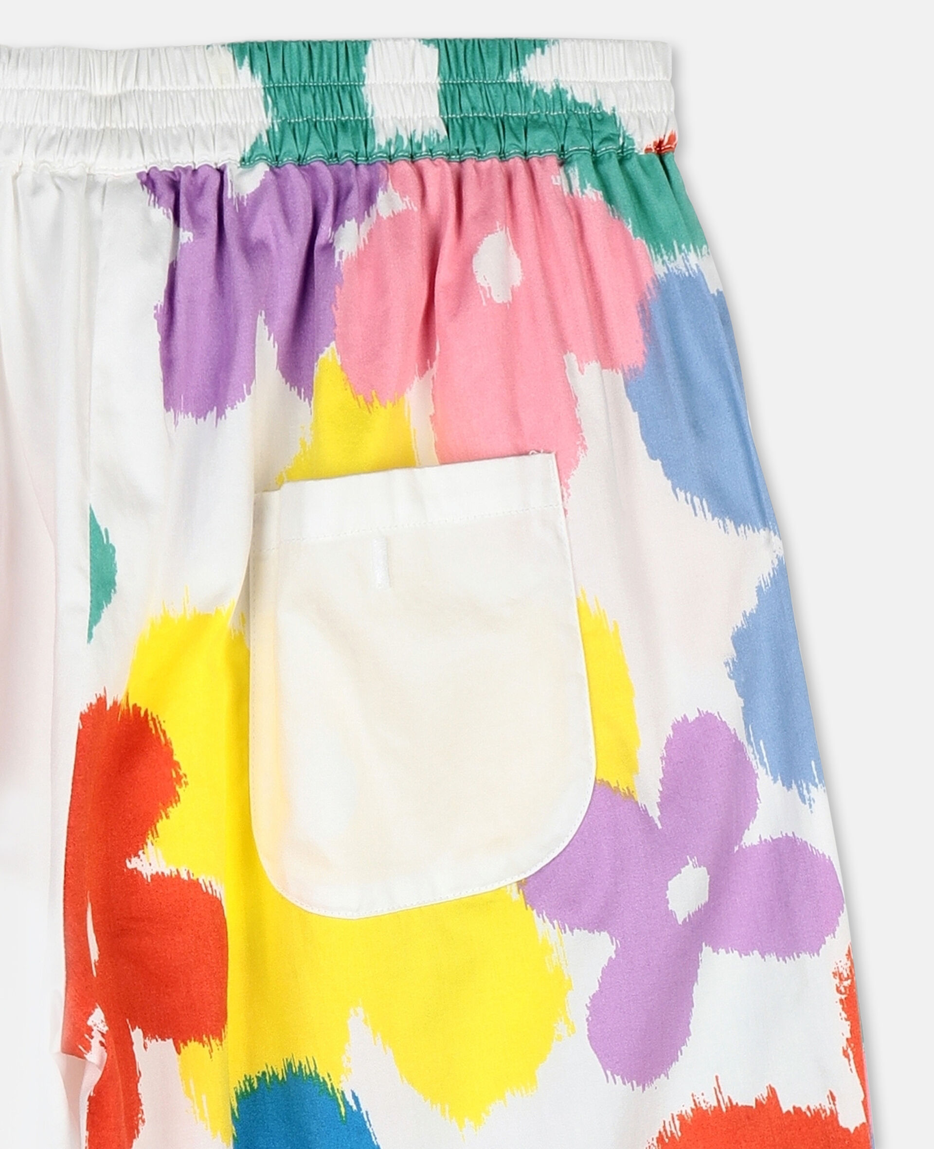 Flower Cotton Trousers-Multicolour-large image number 2