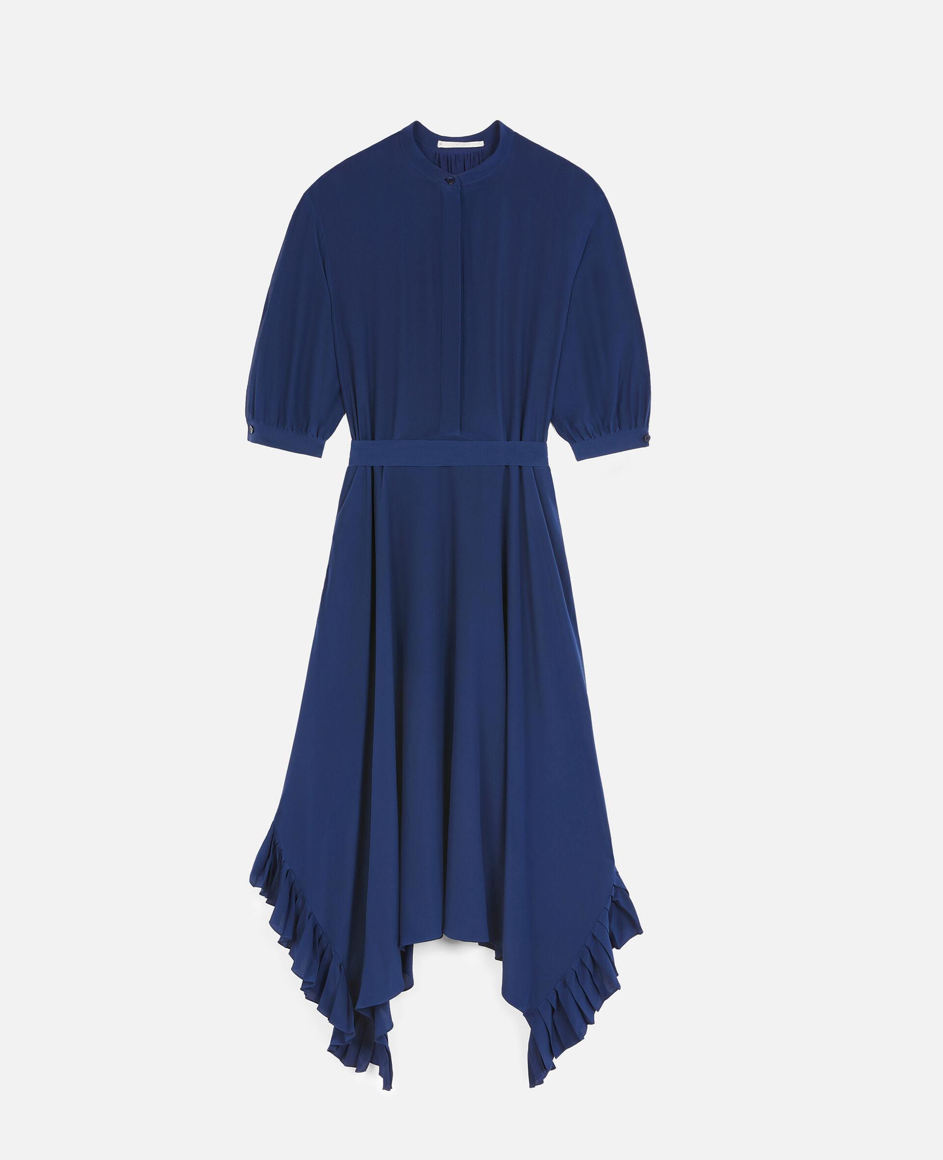 Ophelia Silk Dress-Blue-large image number 0