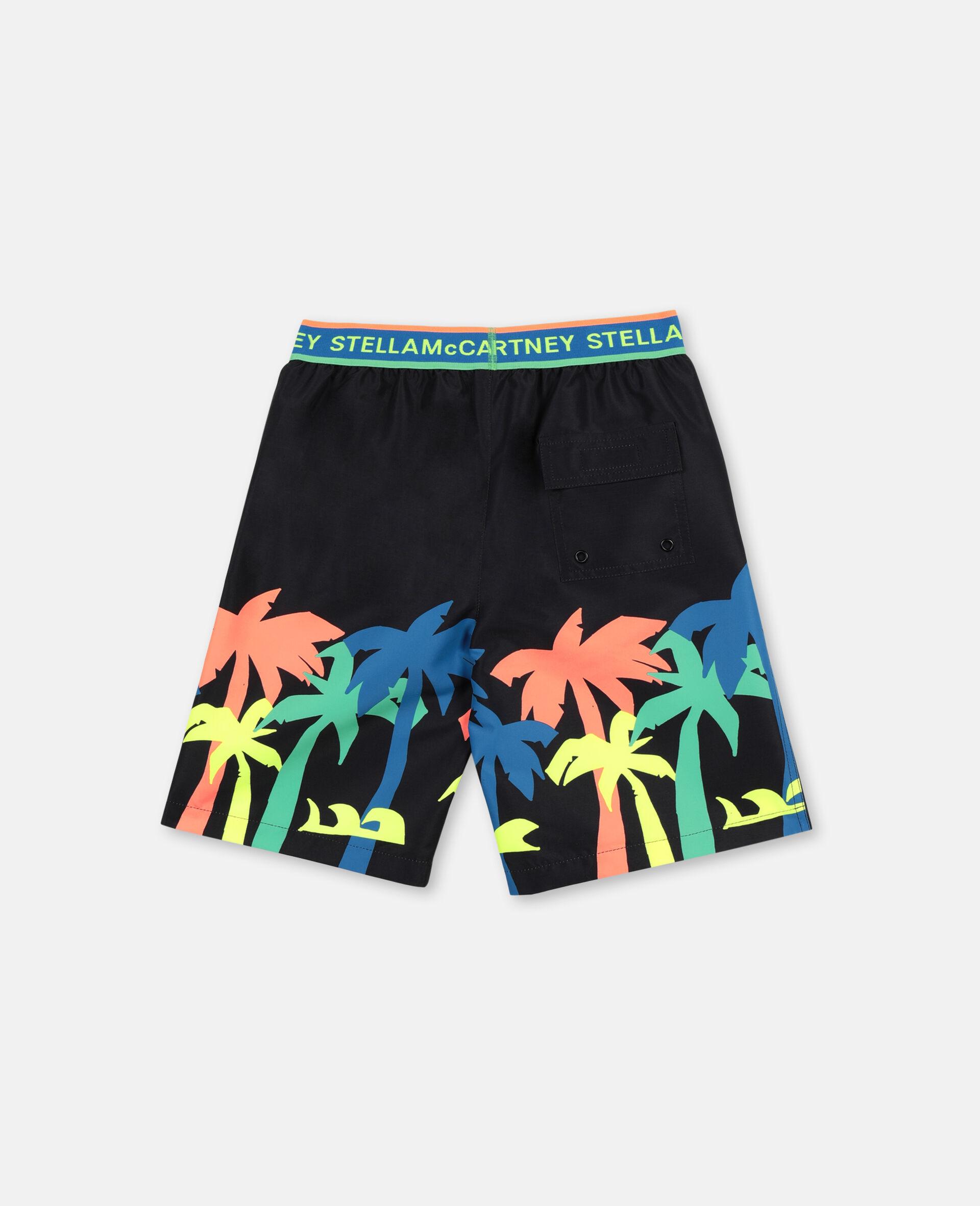 Palm Swim Shorts-Black-large image number 4