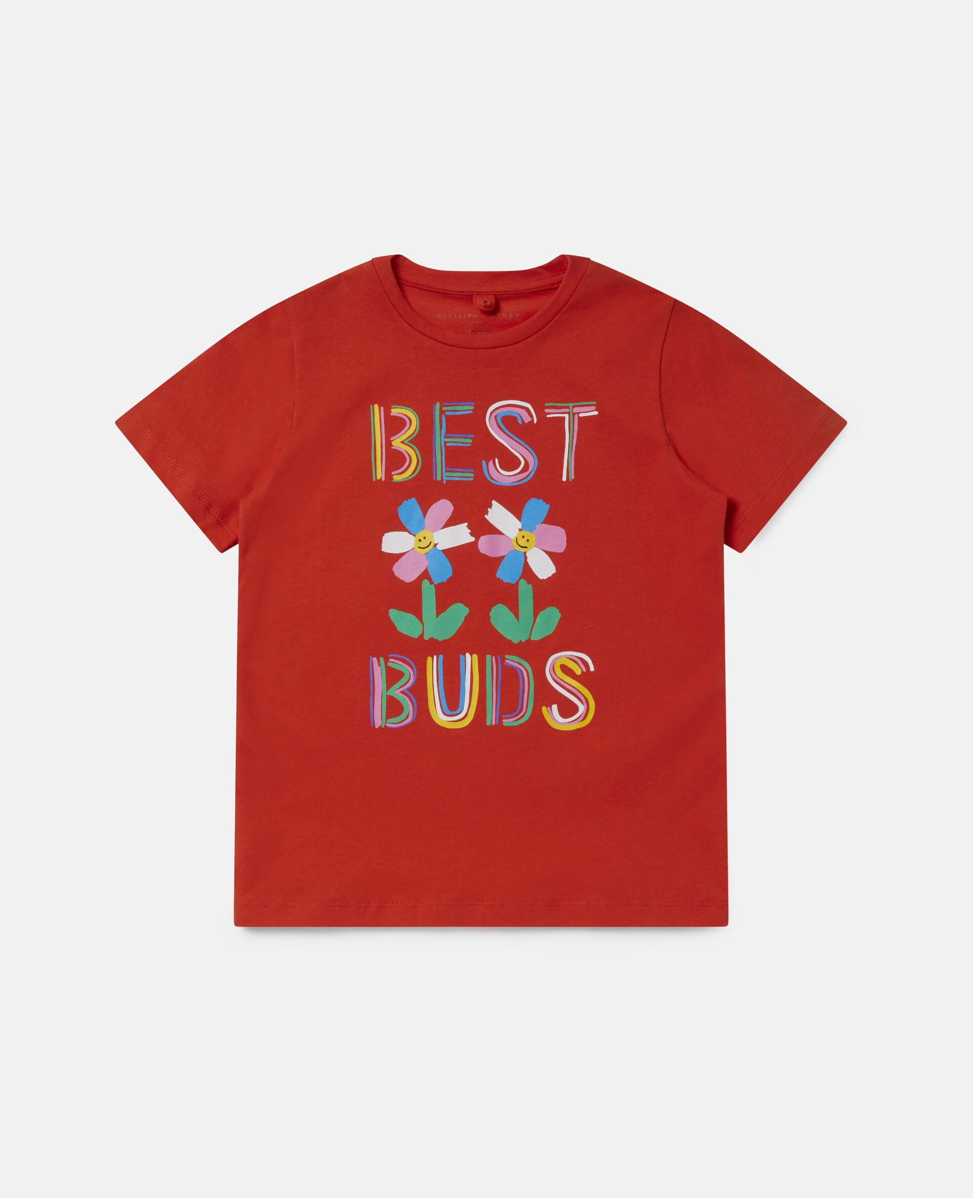 Best Buds 印花棉质 T 恤-红色-large image number 0