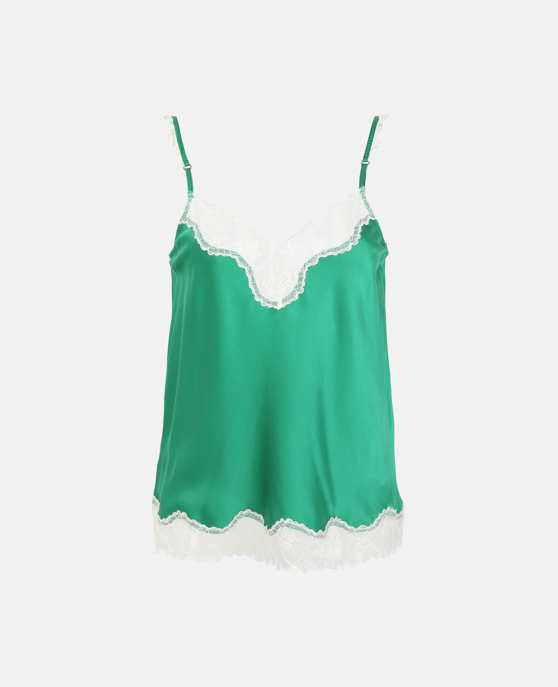 Kitty Catching Camisole-Green-large