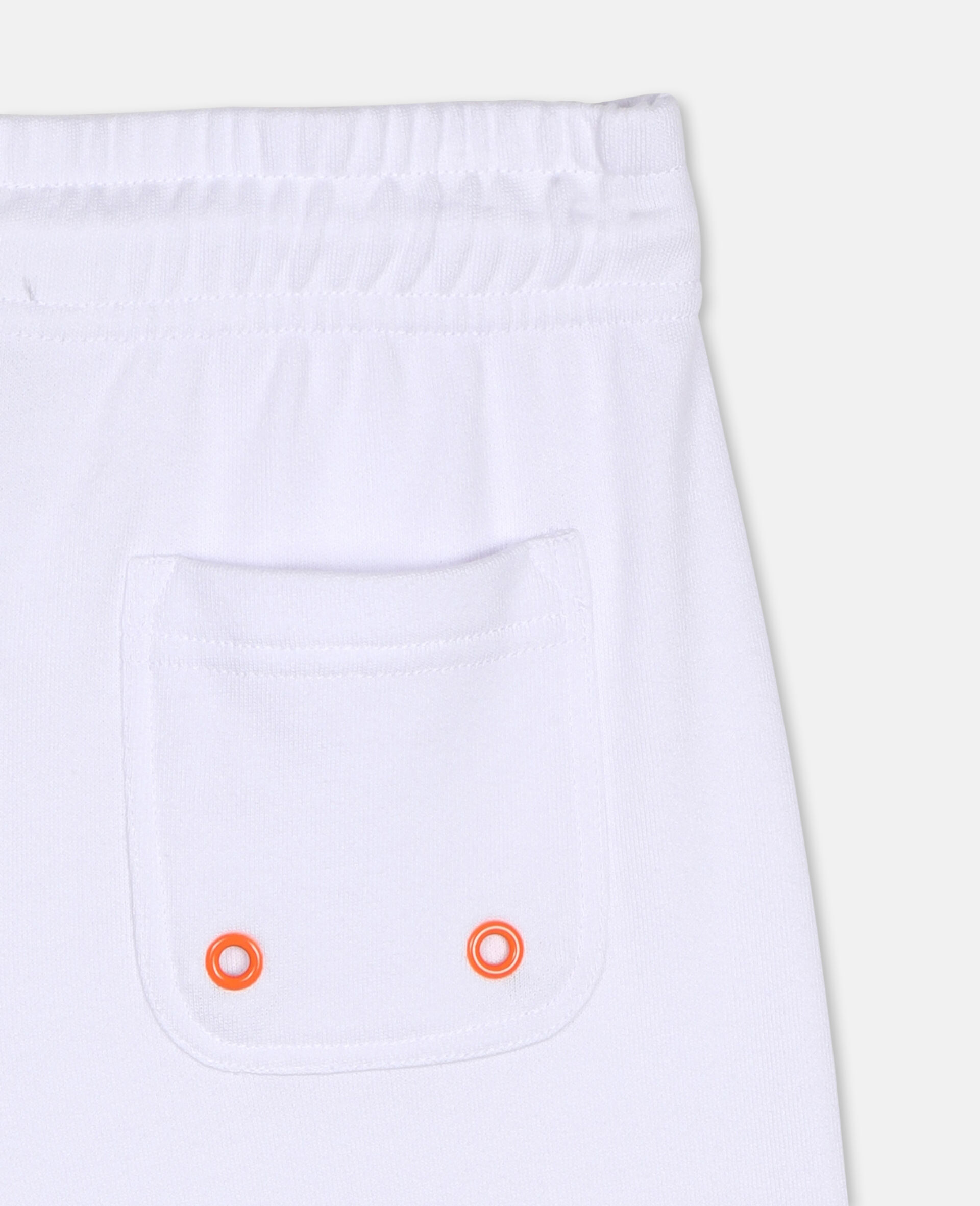 Logo Cotton Sport Shorts -White-large image number 2