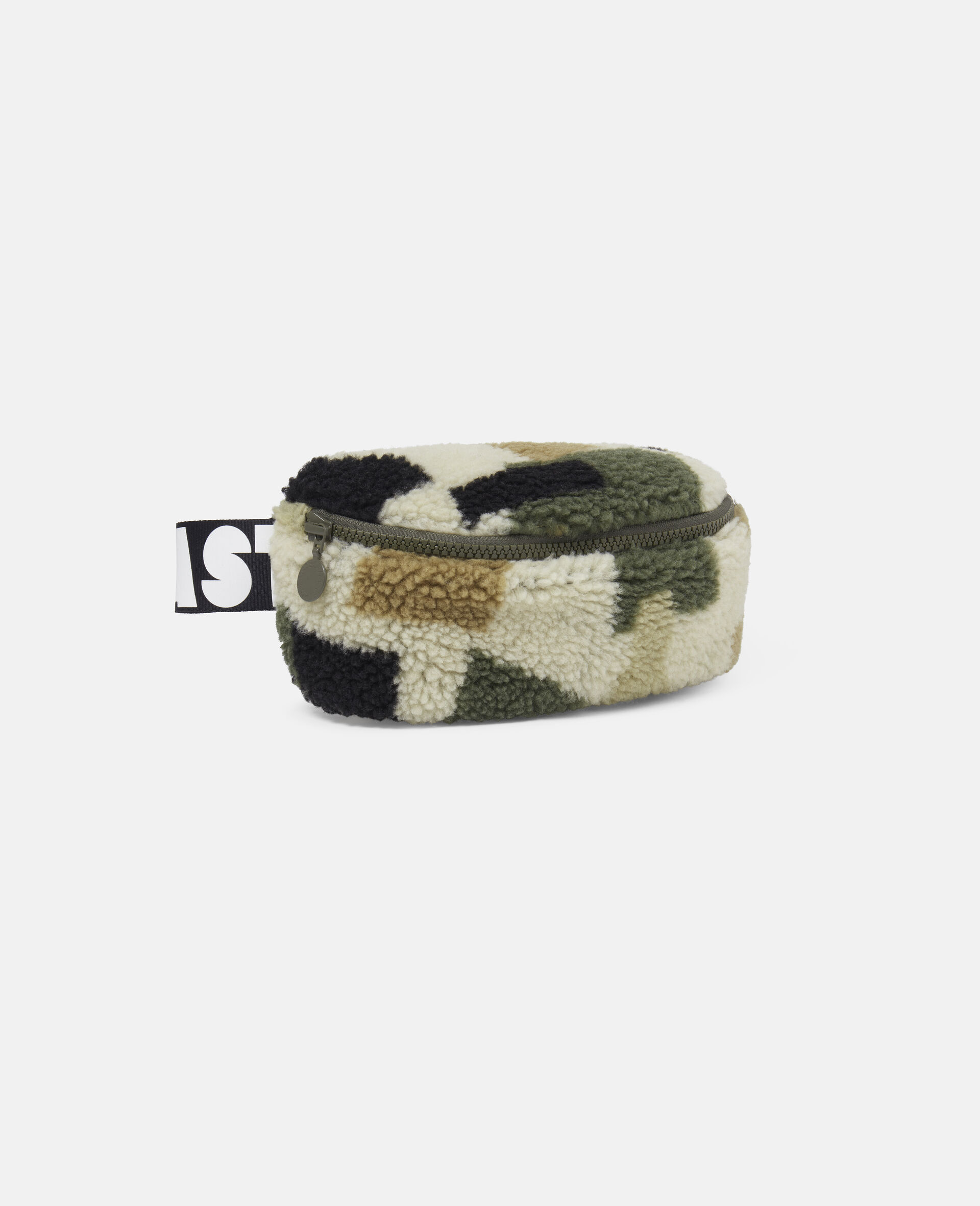 Military Camouflage Teddy Bum Bag-Beige-large image number 1