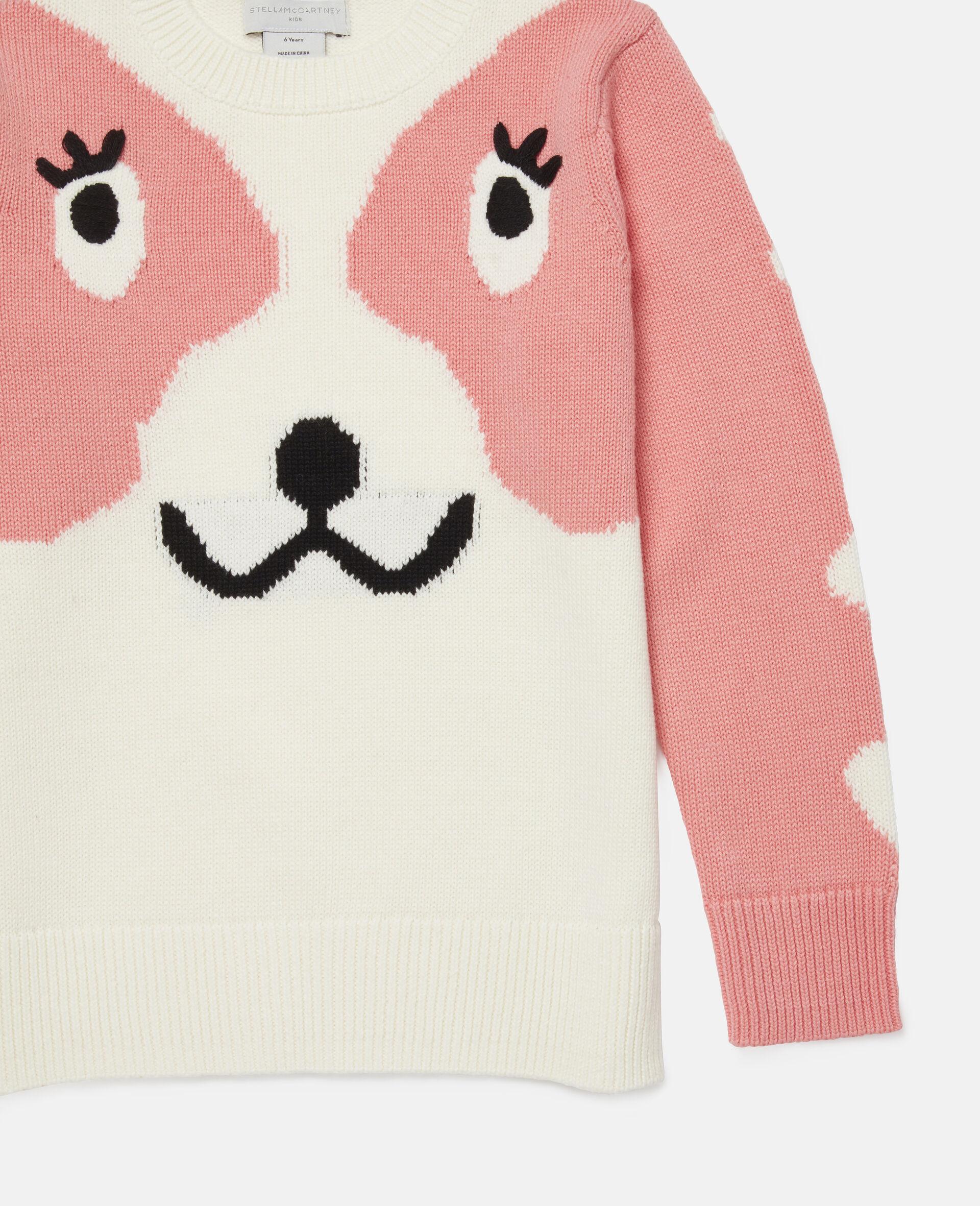 Doodle Dog Intarsia Sweater -White-large image number 2