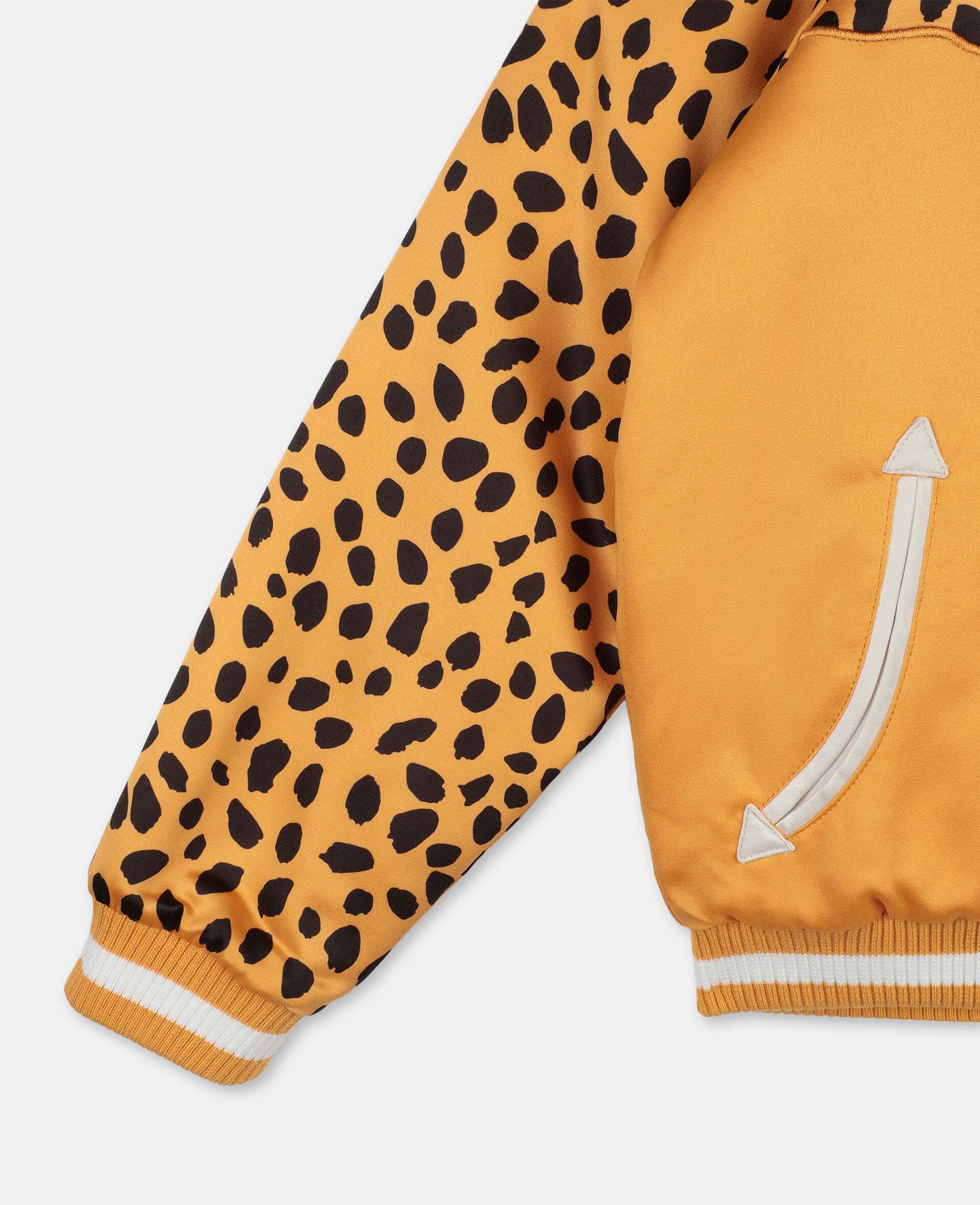 Cheetah Patch Satin Puffer   -Orange-large image number 2