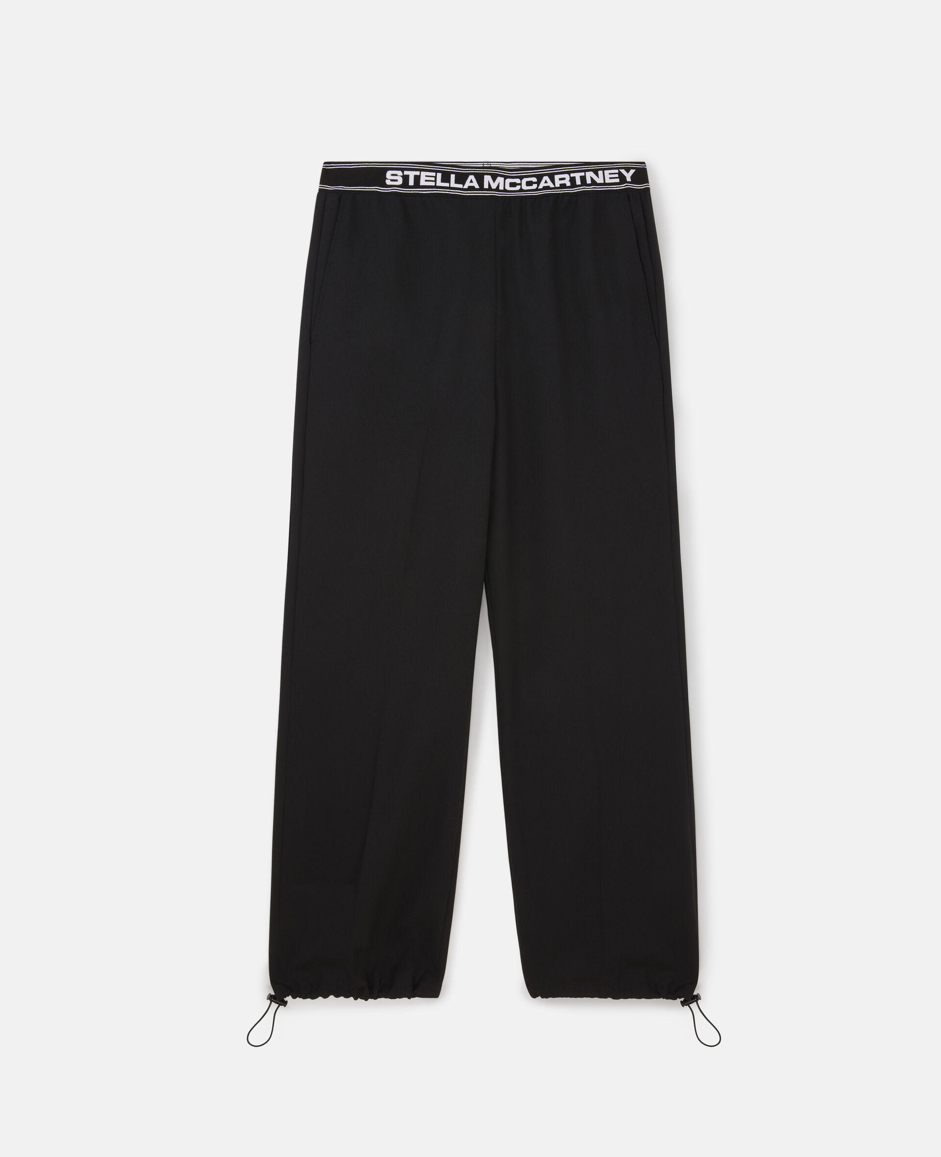 Stella Logo Tailored Trousers -Black-large image number 0