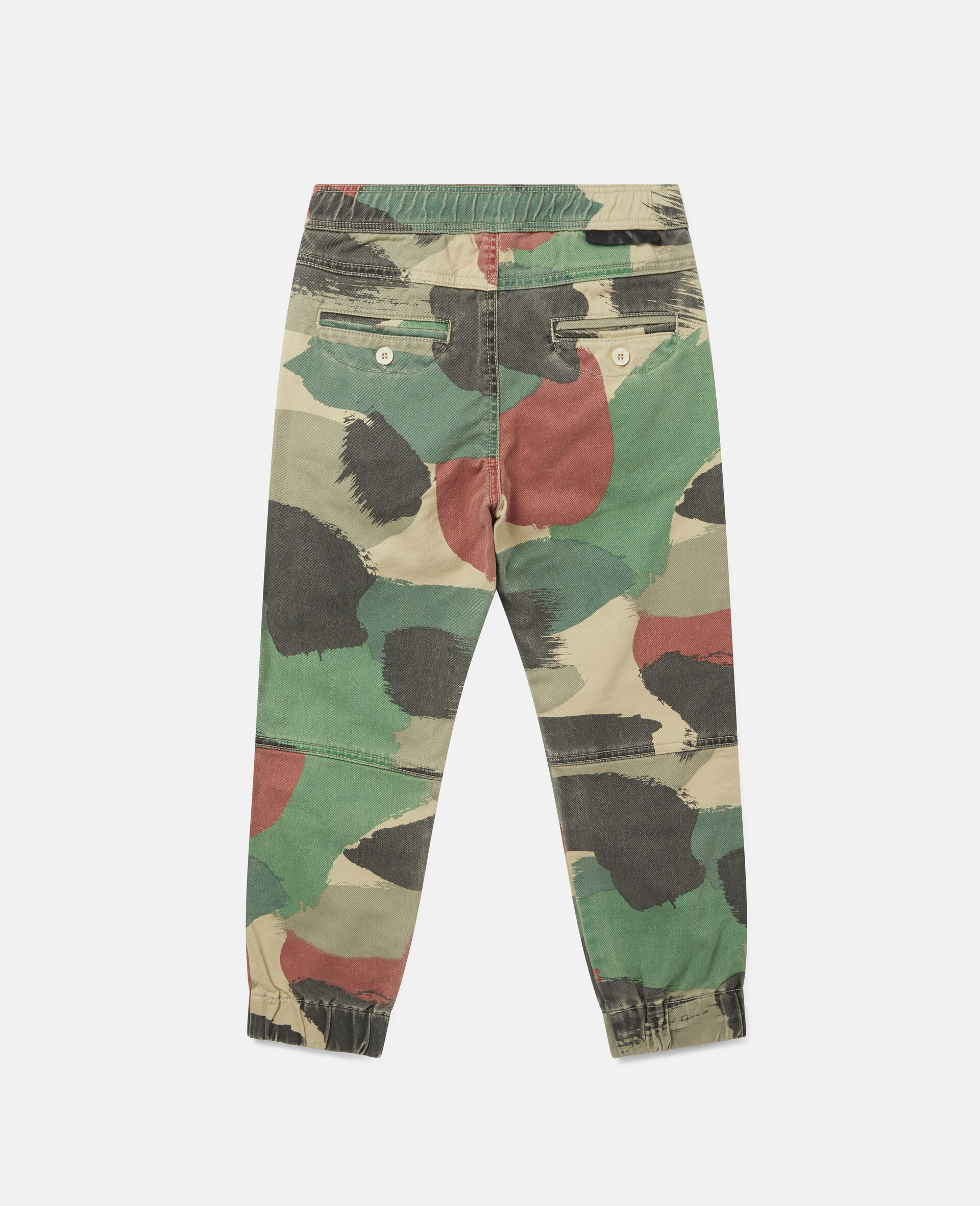 Camouflage Cargo Denim Trousers-Multicolour-large image number 2