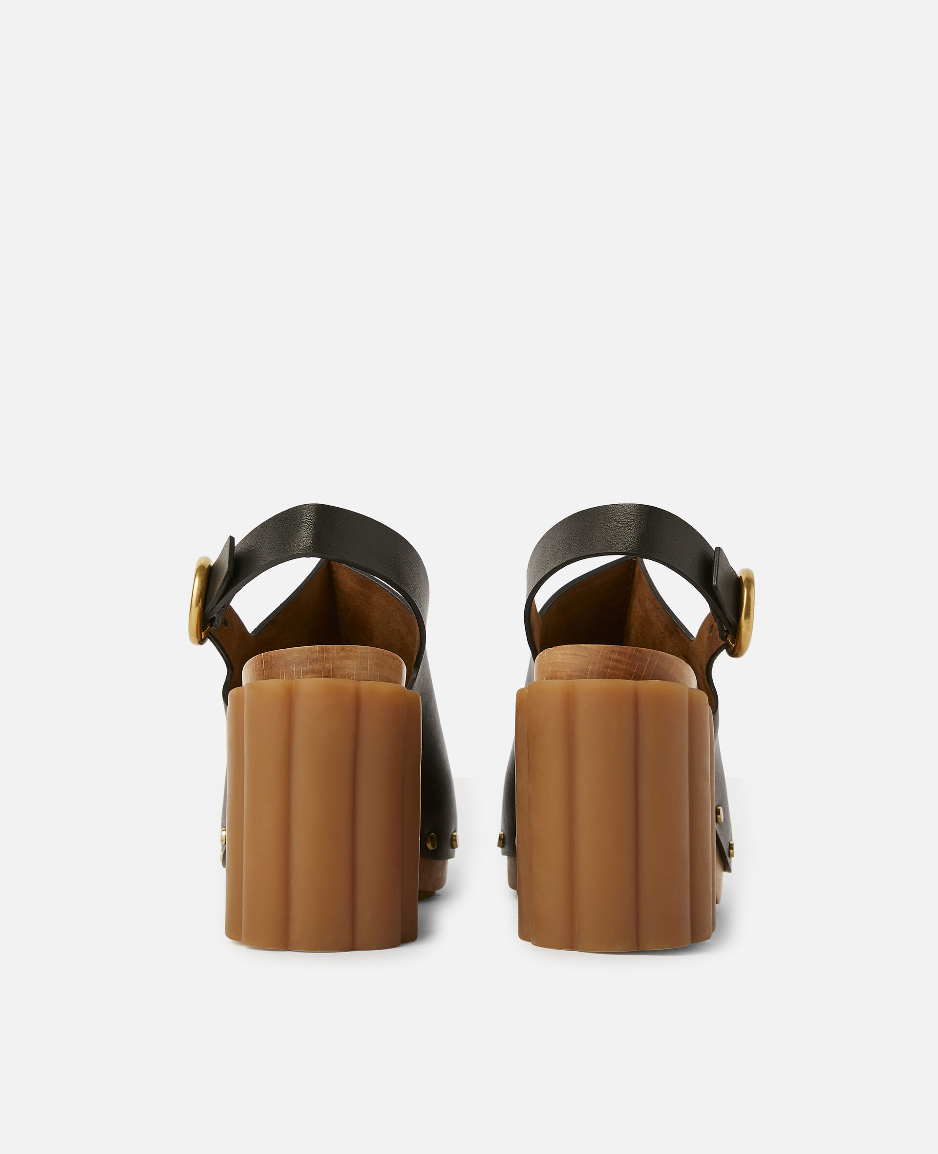 Daisy Stud Hardware Sandals-Black-large image number 2