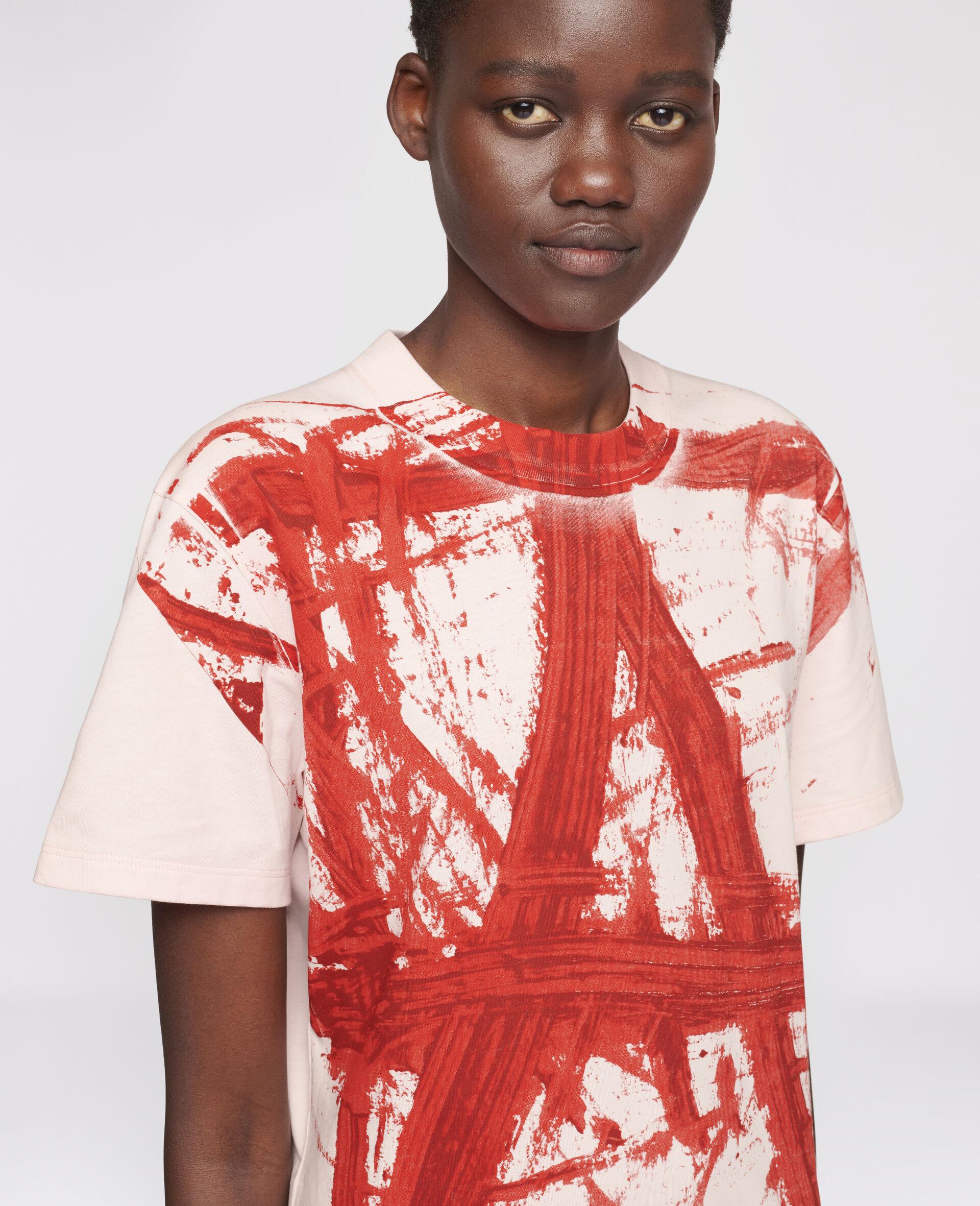 "T-Shirt ""A"" di Rashid Johson-Rosa-large image number 3"