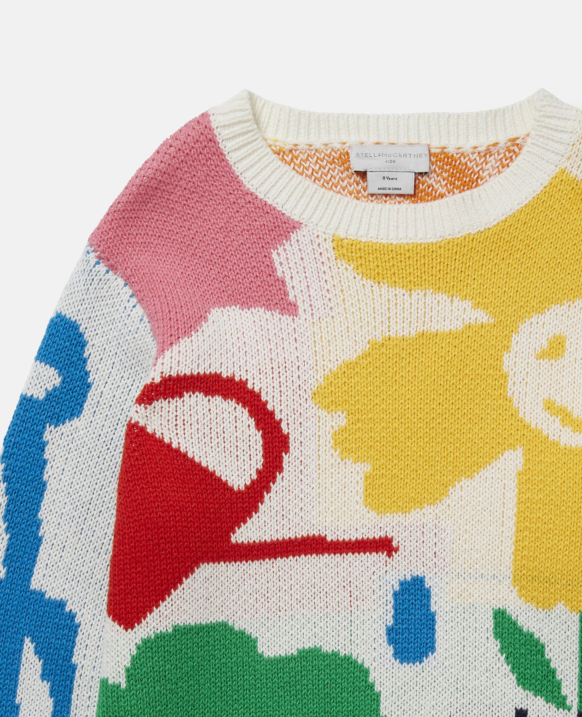 Garden Knit Jumper-White-large image number 2