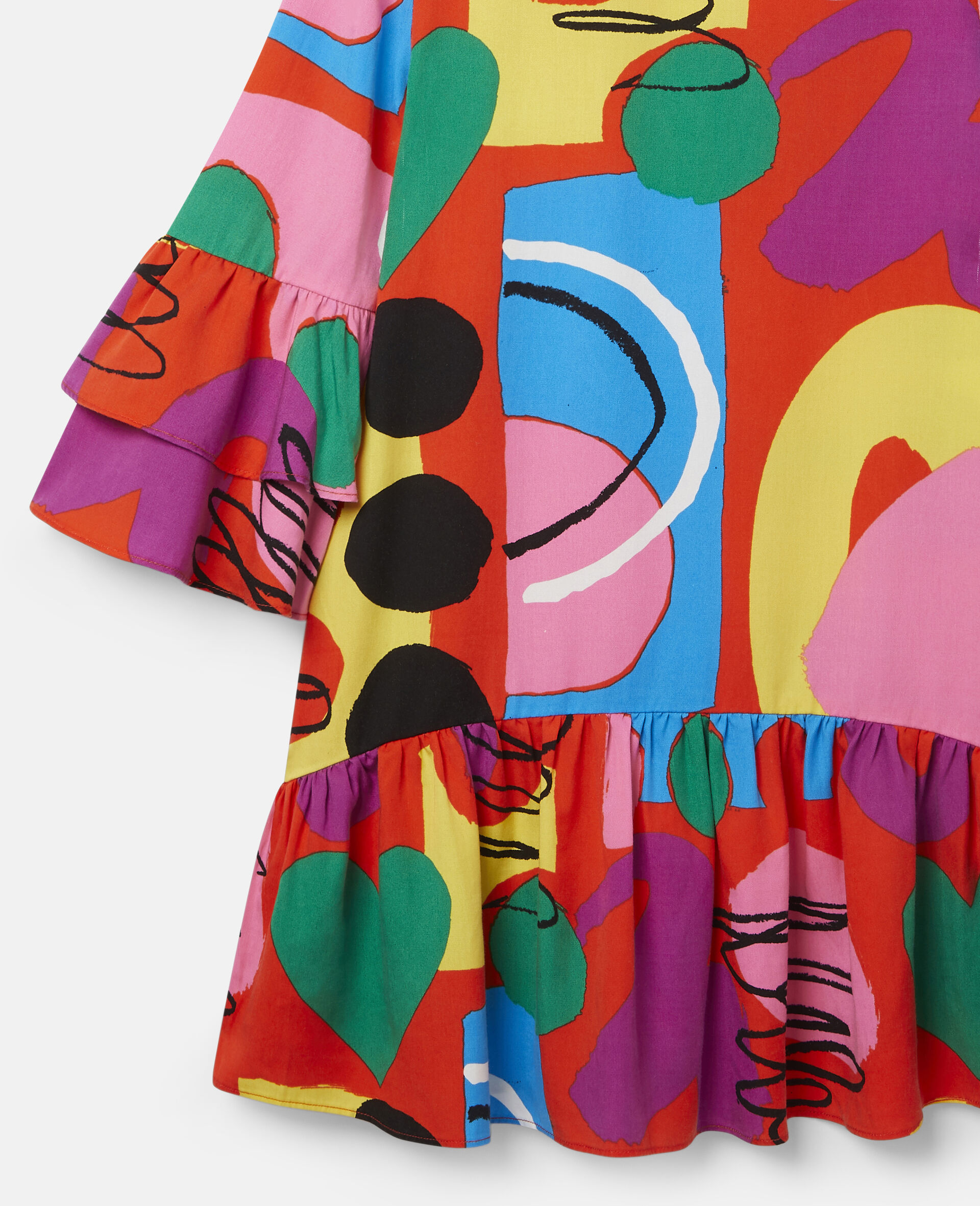 Painting Tencel Twill Dress-Multicolour-large image number 1
