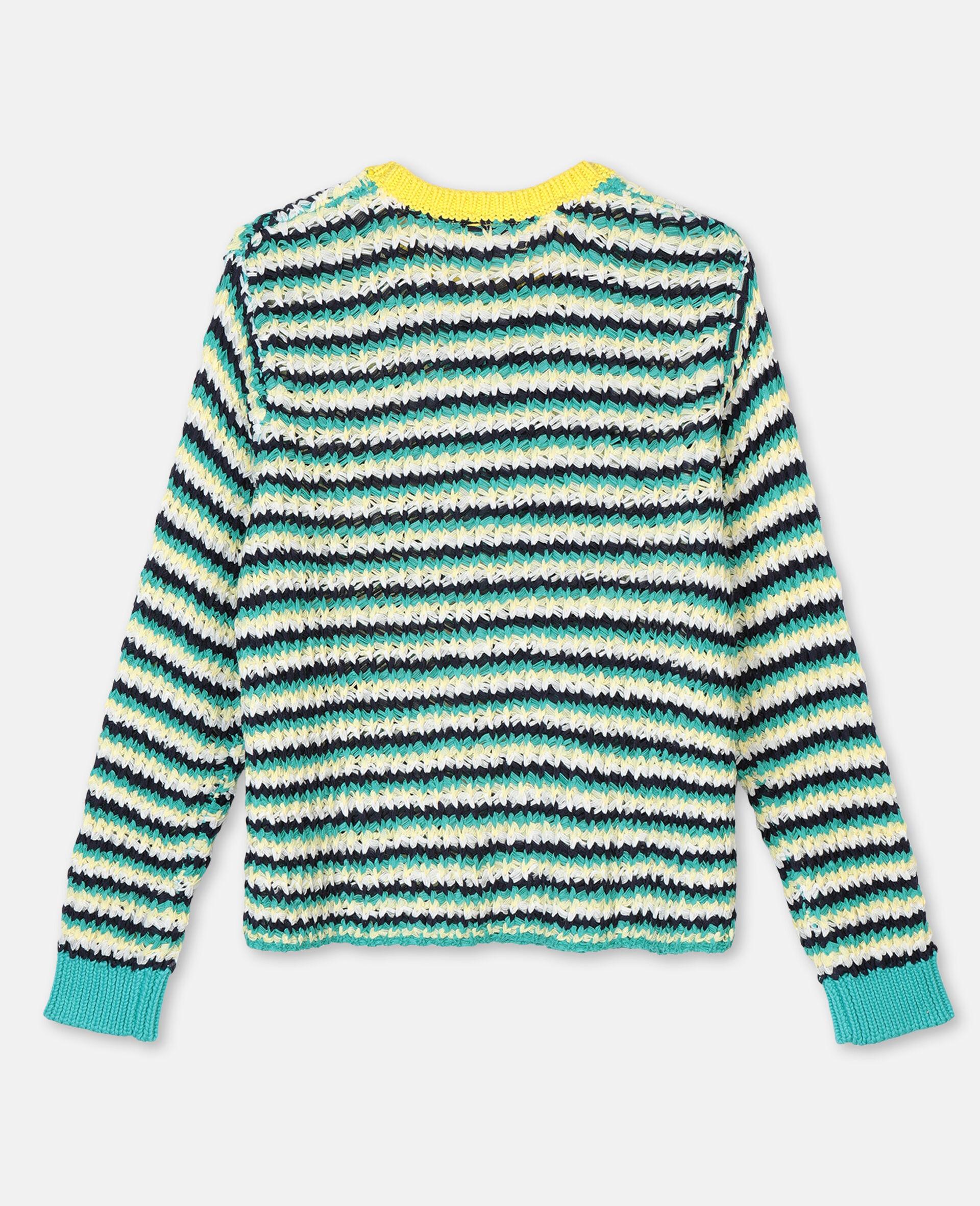 Zigzag Oversize Knit Sweater -Multicolour-large image number 3
