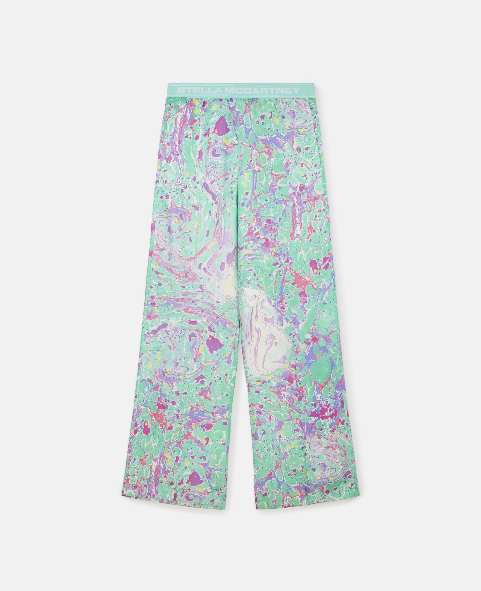 Myfawnwy Printed Silk Trousers-Multicolour-large image number 0