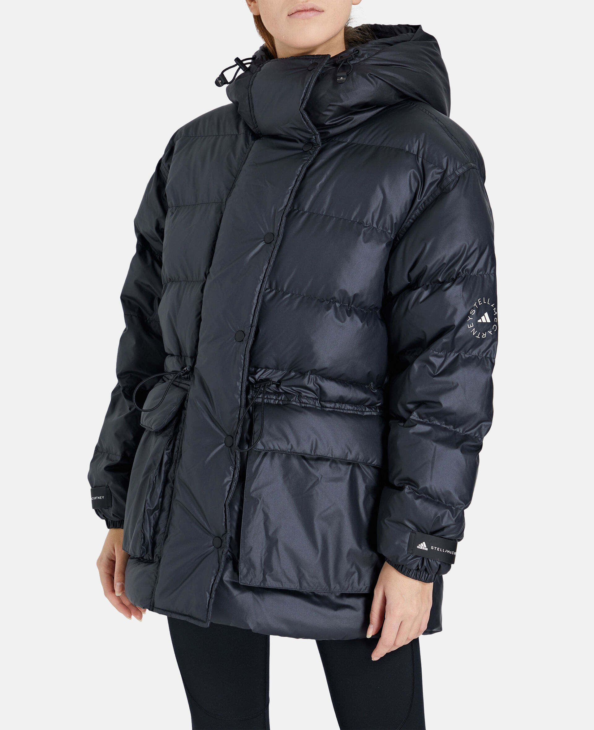 2-in-1 Mid-Length Padded Jacket-Black-large image number 4
