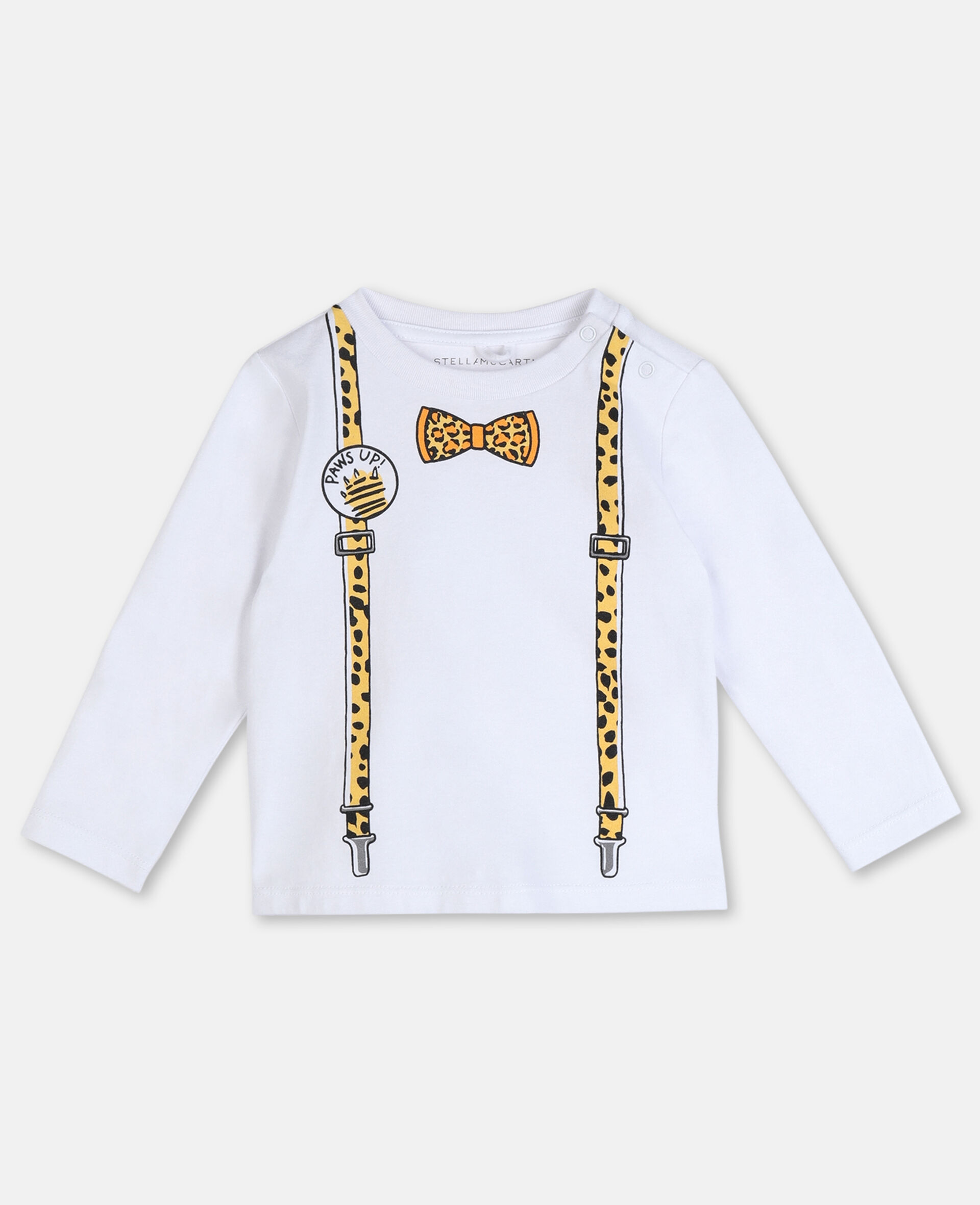 Suspenders Cotton T-shirt -White-large image number 0