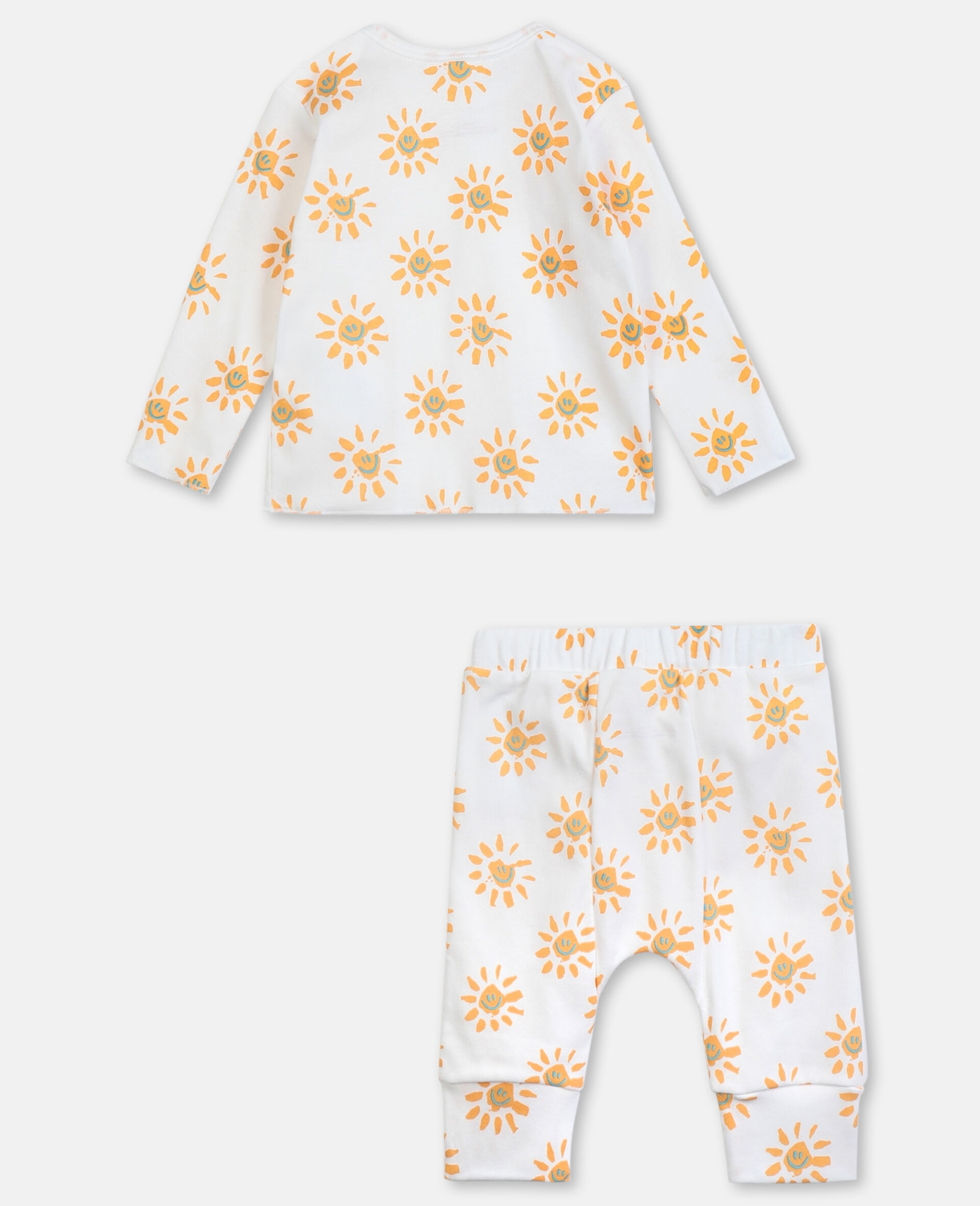Happy Sun Jersey Rib Tracksuit -Yellow-large image number 3