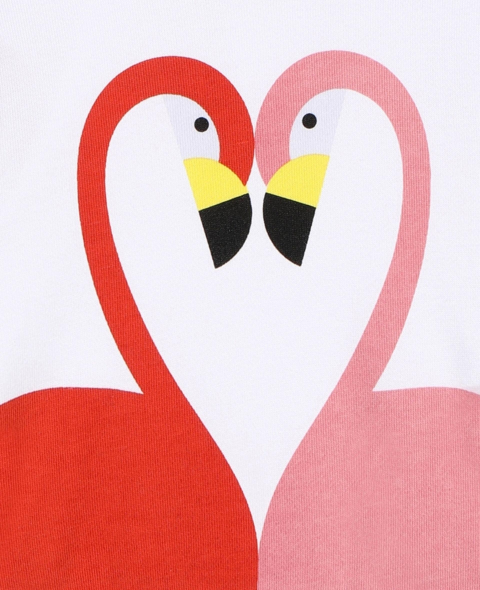 Flamingo Cotton Sweatshirt -White-large image number 1
