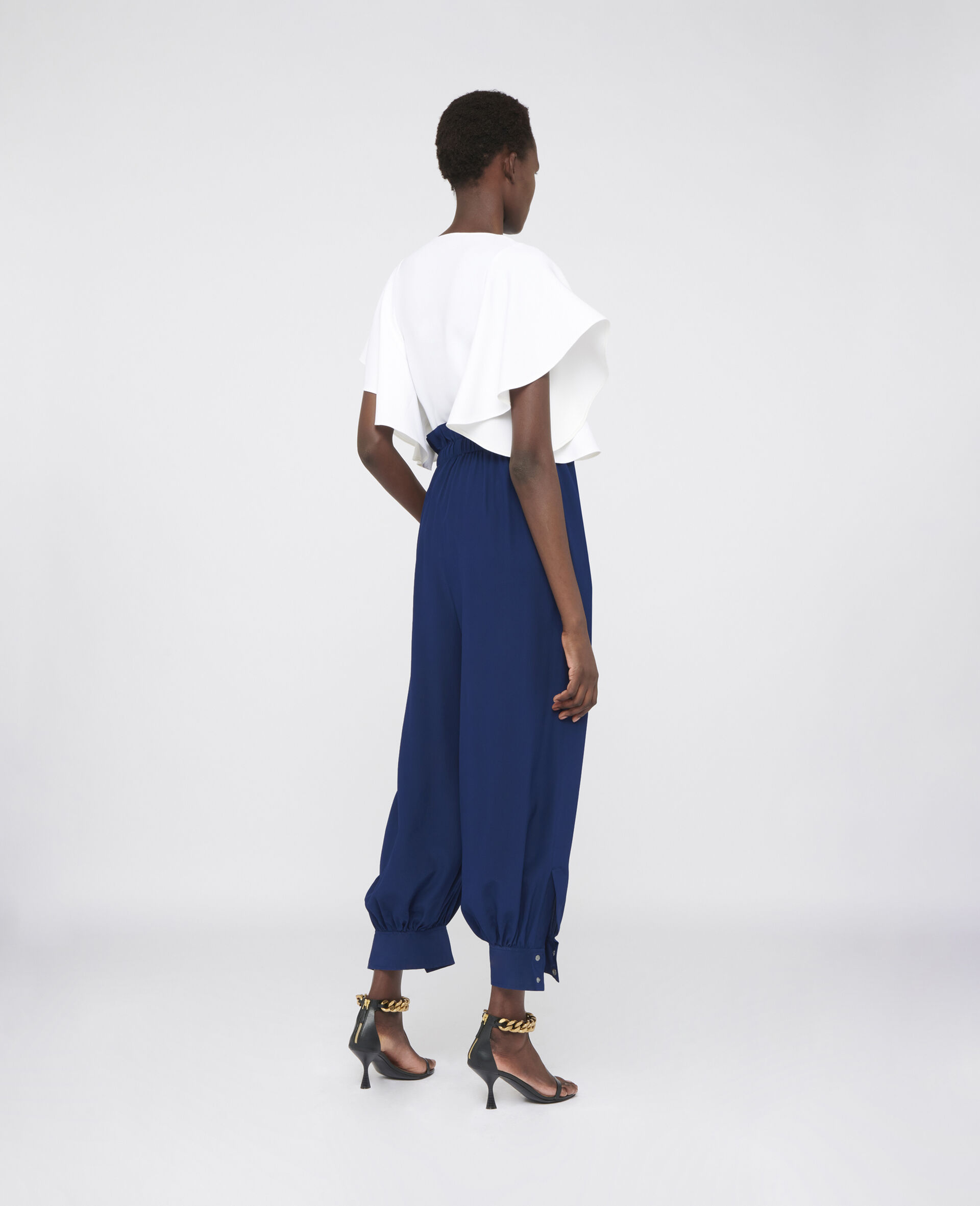 Lauryn Silk Trousers-Blue-large image number 2